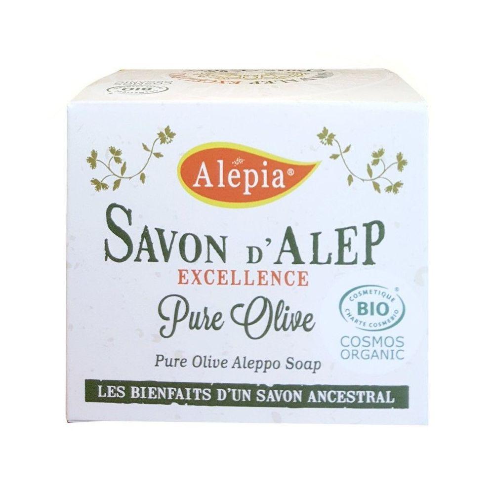 Alépia Savon d'Alep – Excellence Pure Olive Bio 190gr – le plus doux et le plus blanc - Alépia