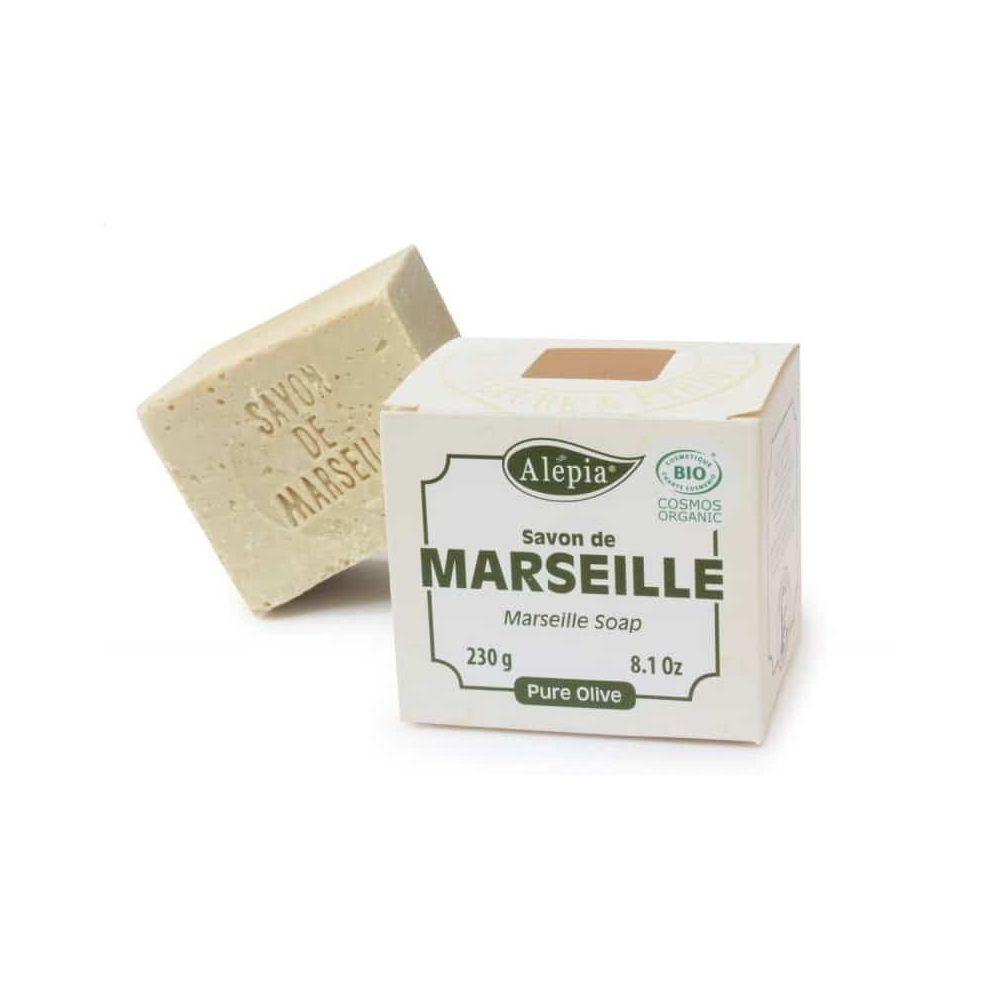 Alépia Savon de Marseille – Pure olive bio 230 Gr – Très doux et hydratant - Alépia
