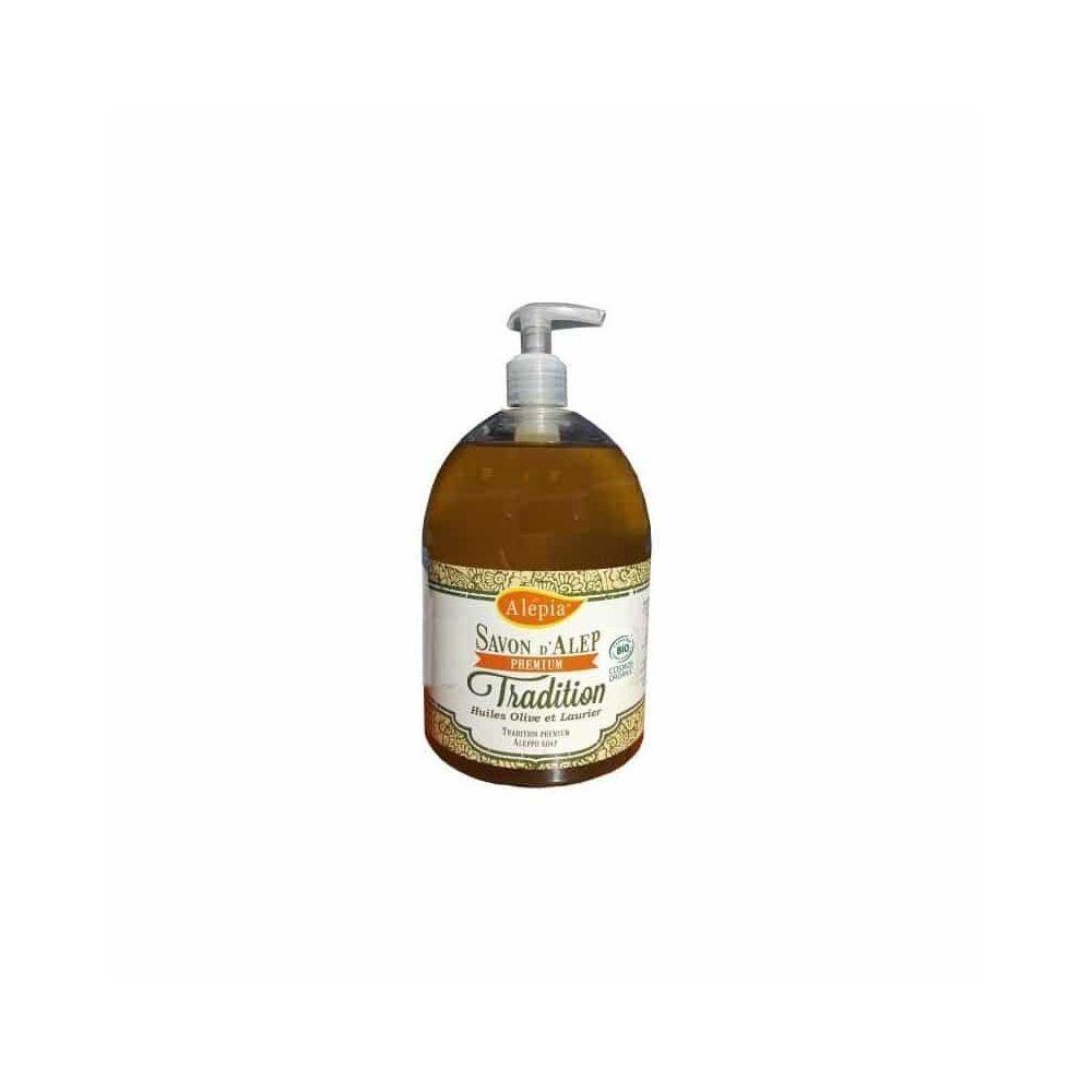 Alépia Savon d'Alep liquide – Premium tradition Bio 500ml – Olive et laurier - Alépia