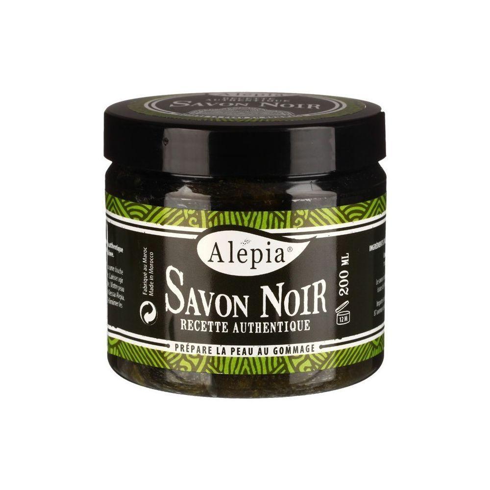 Alépia Savon noir authentique – Pot 200ml - Prépare la peau au gommage - Alépia