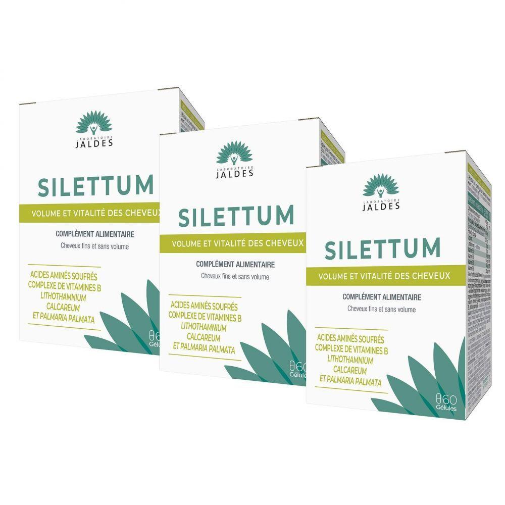Jaldes Silettum - 3X60 Gélules - Beauté et Vitalité des cheveux - Jaldes