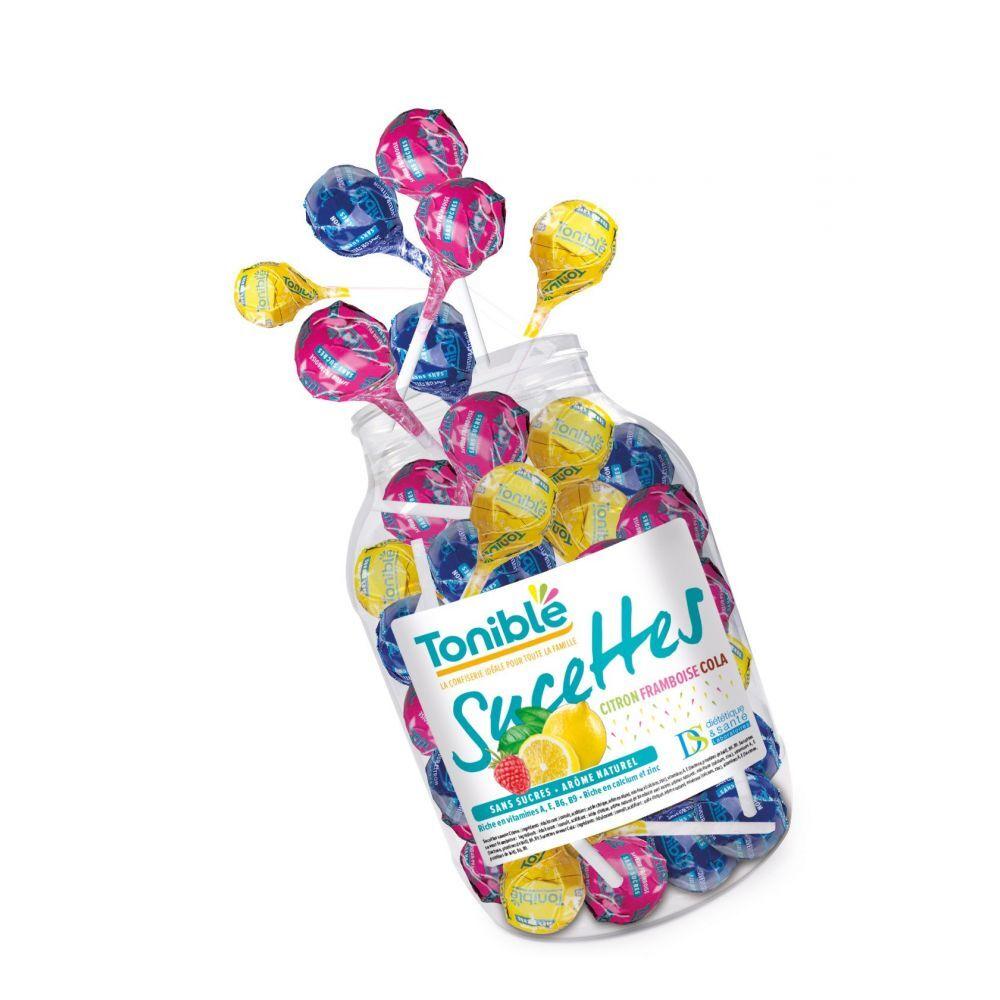 Vitaflor Toniblé - Boite de 180 Sucettes - Sans sucre et aux arômes naturels - Vitaflor