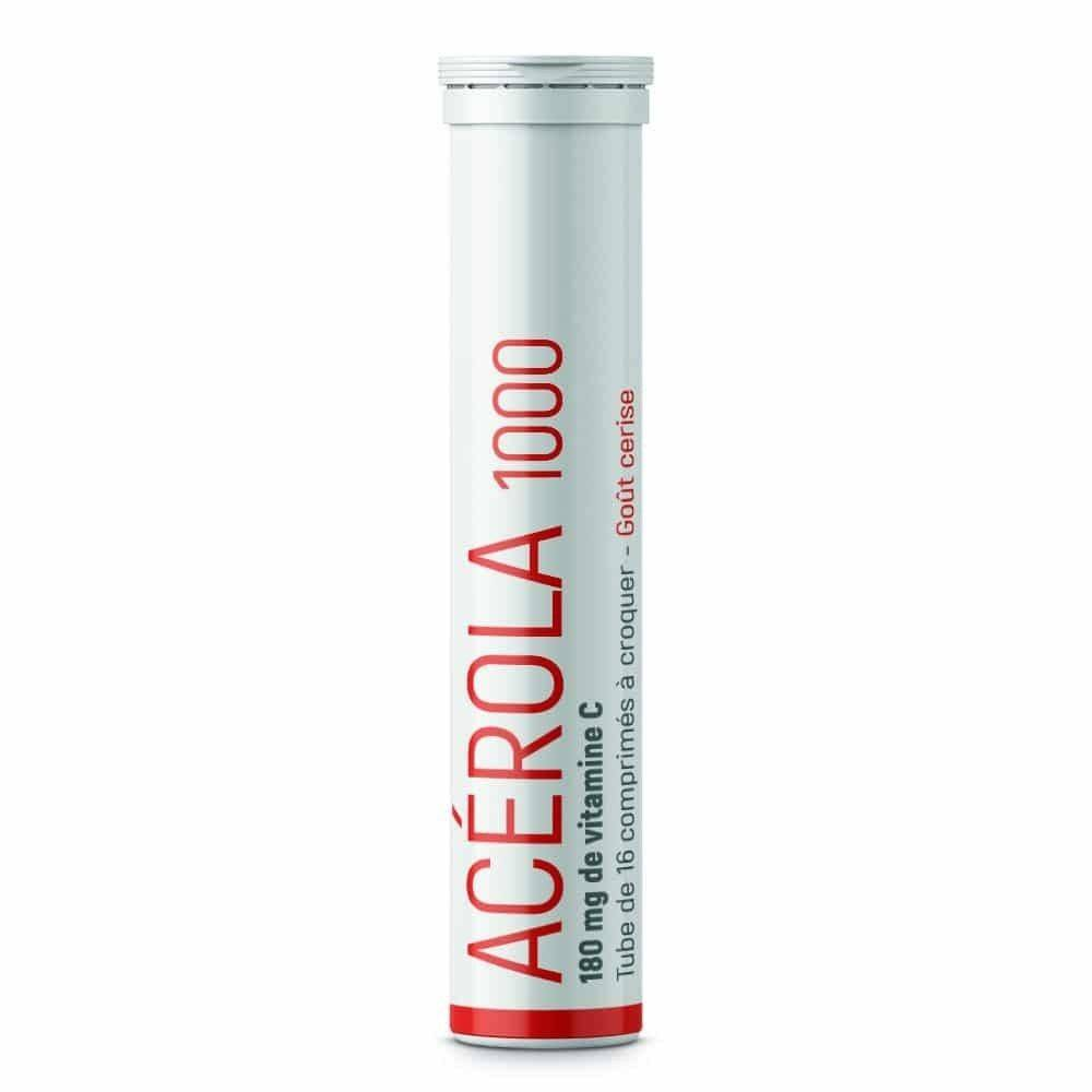 Synergia Acérola 1000 – 16 Comprimés - Apport en Vitamine C 100% Naturelle - Synergia