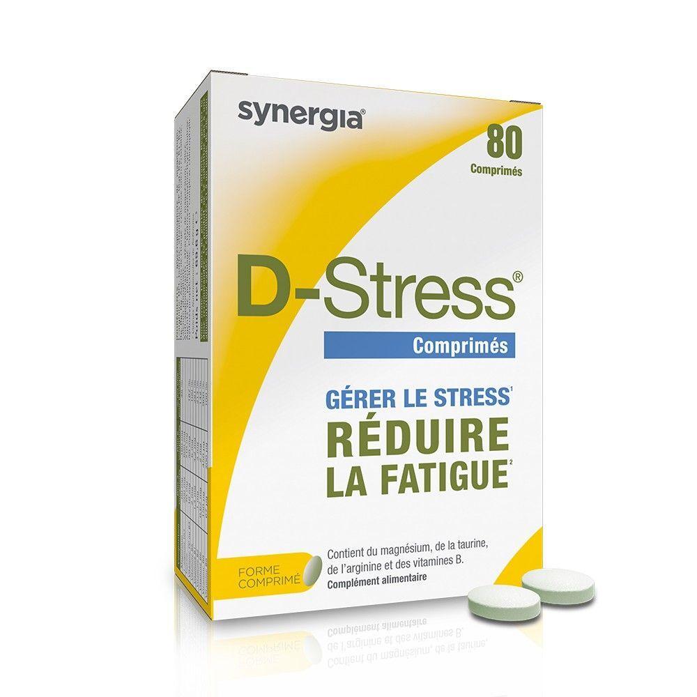 Synergia D-Stress – 80 comprimés – Réduit la fatigue - Synergia