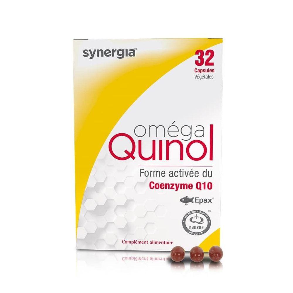 Synergia Oméga Quinol – 32 Capsules - Rééquilibre les Apports en Ubiquinol - Synergia