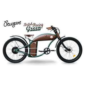 Rayvolt Velo Electrique Chopper Cruzer 25km/hr vert L Dual batterie - Publicité
