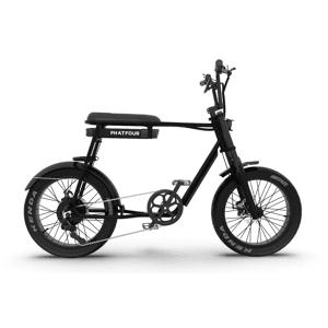 PHATFOUR Retro Fat Bike Electrique Vintage 70s PHATFOUR FLB+ Noir 470Wh - Publicité