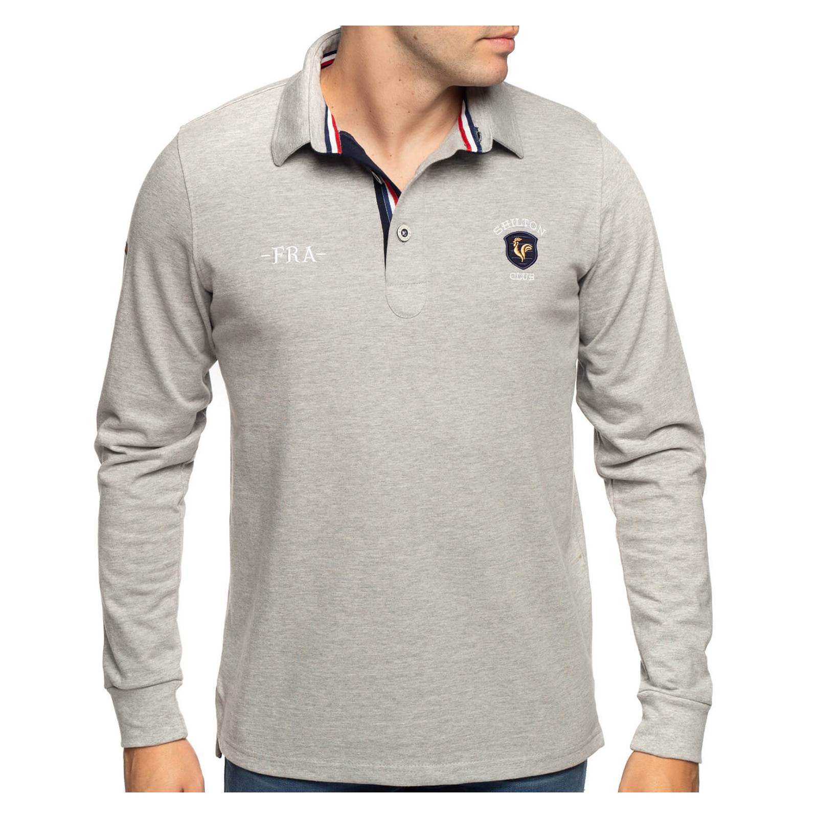 Shilton Polo rugby nation France - Gris - L
