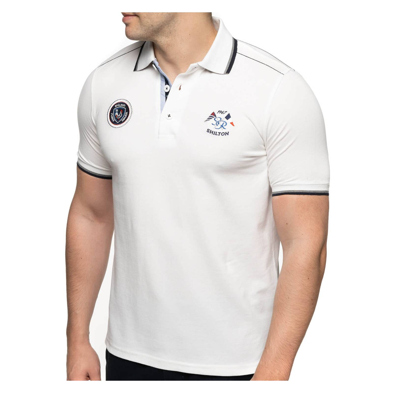 Shilton Polo rugby France nation - Blanc - L