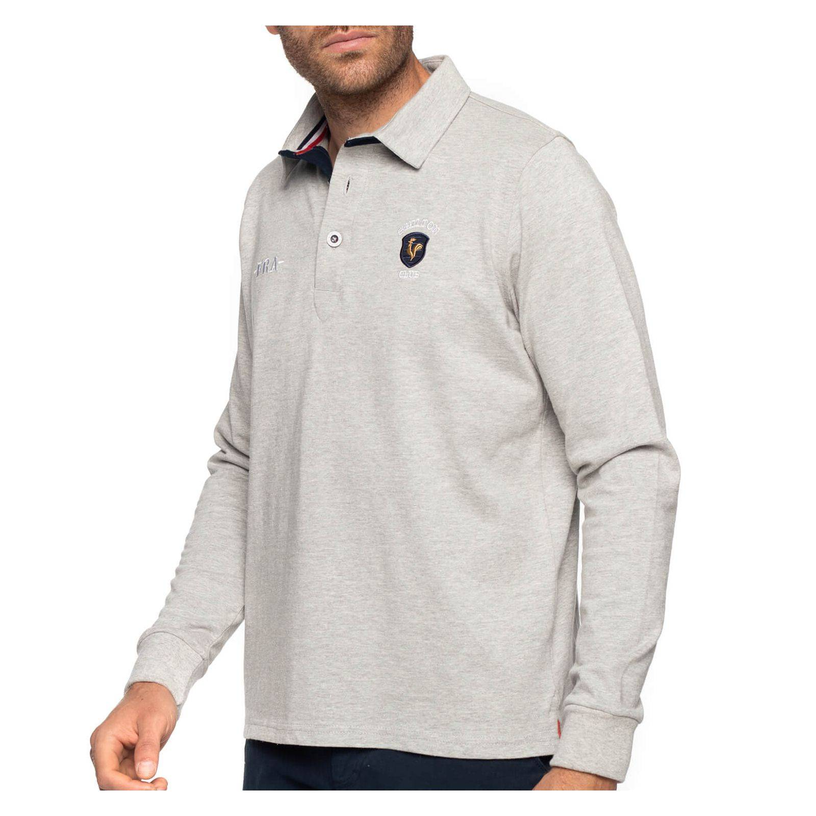 Shilton Polo rugby France coq - Gris - L