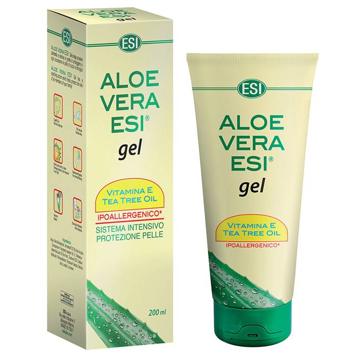 ESI SpA ESI 200ml Aloe Vera Gel Vitamine E + Tea Tree