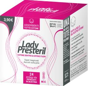 CORMAN SpA Lady Presteril coton Protection de l'alimentation Slip Coton 24 Protect Slip