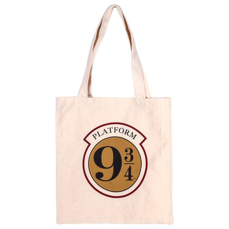 Sac shopping plateforme 9 3/4 en tissu Harry Potter