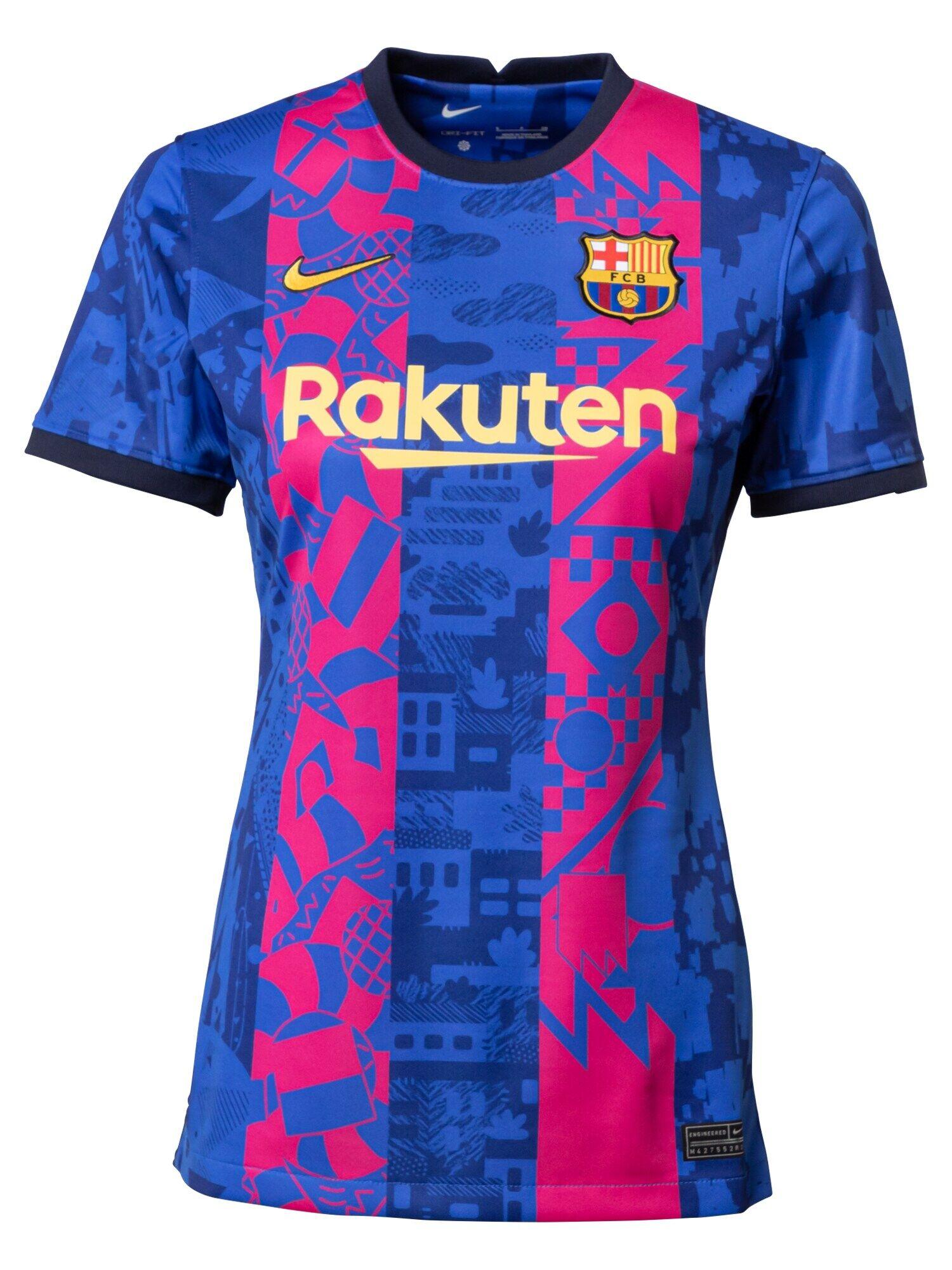 NIKE T-shirt fonctionnel 'FC Barcelona 2021/22 Stadium Third'  - Bleu - Taille: XL - female