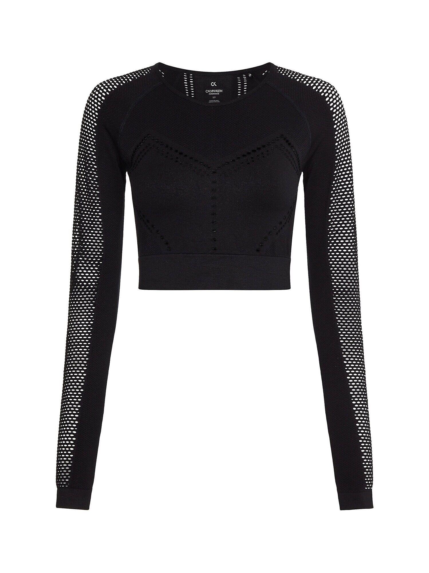 Calvin T-shirt fonctionnel 'cropped Gym'  - Noir - Taille: XS - female