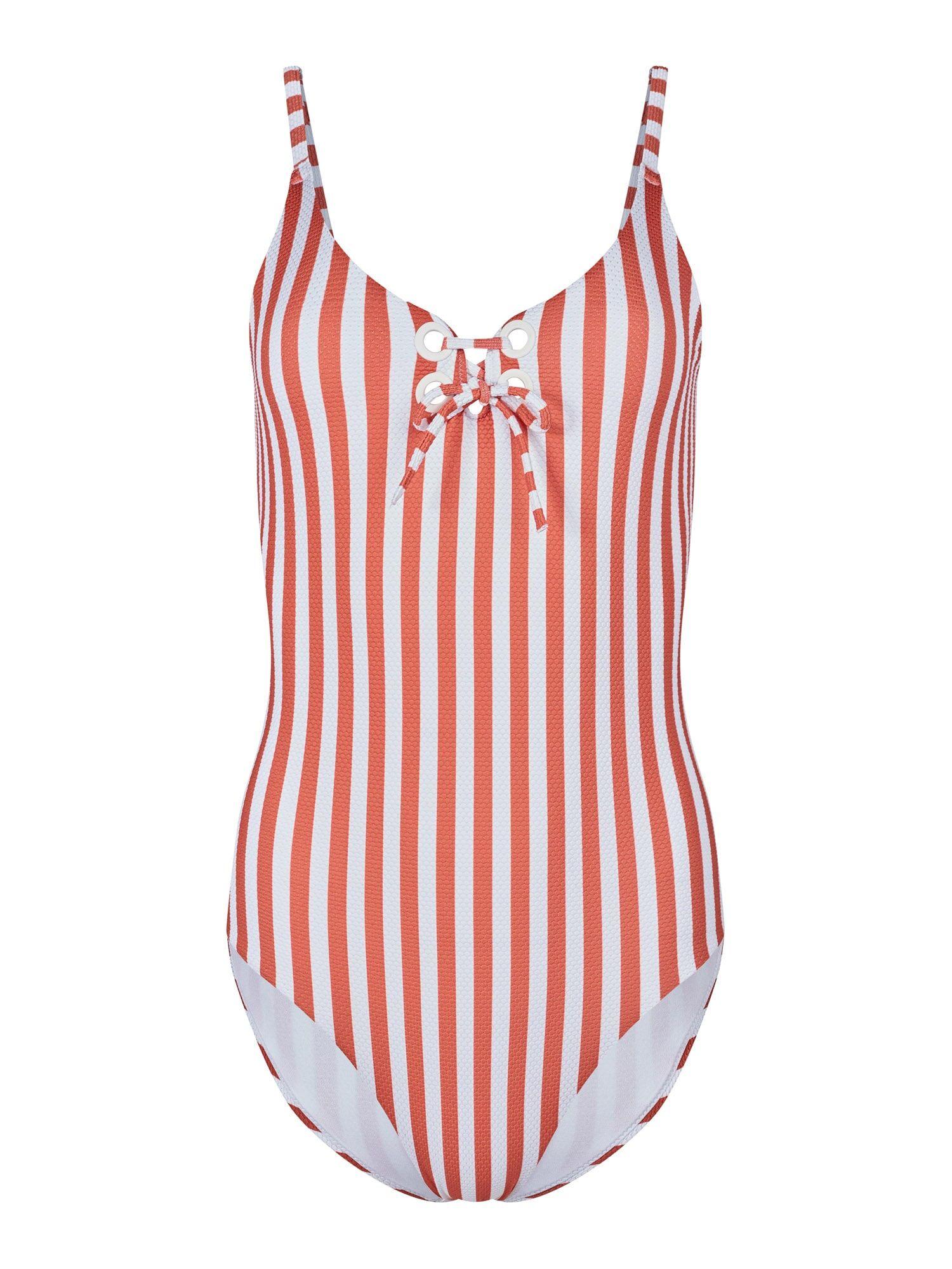 Skiny Maillot de bain 'Surf Girl'  - Orange, Blanc - Taille: 36 - female