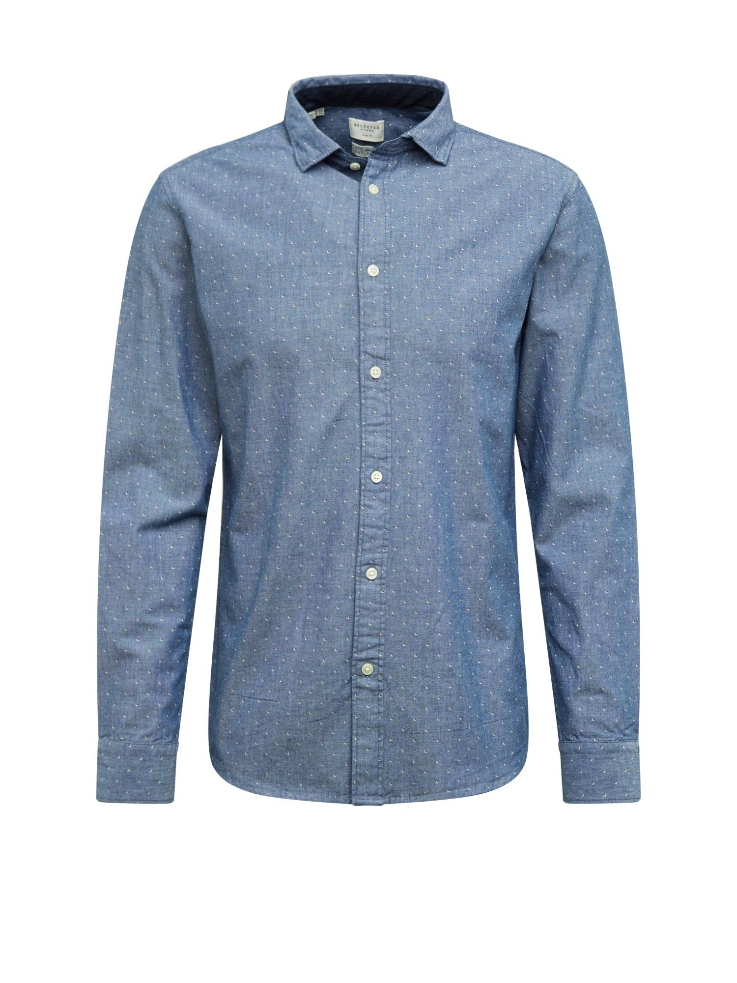 SELECTED HOMME Chemise 'NOOS'  - Bleu - Taille: S - male