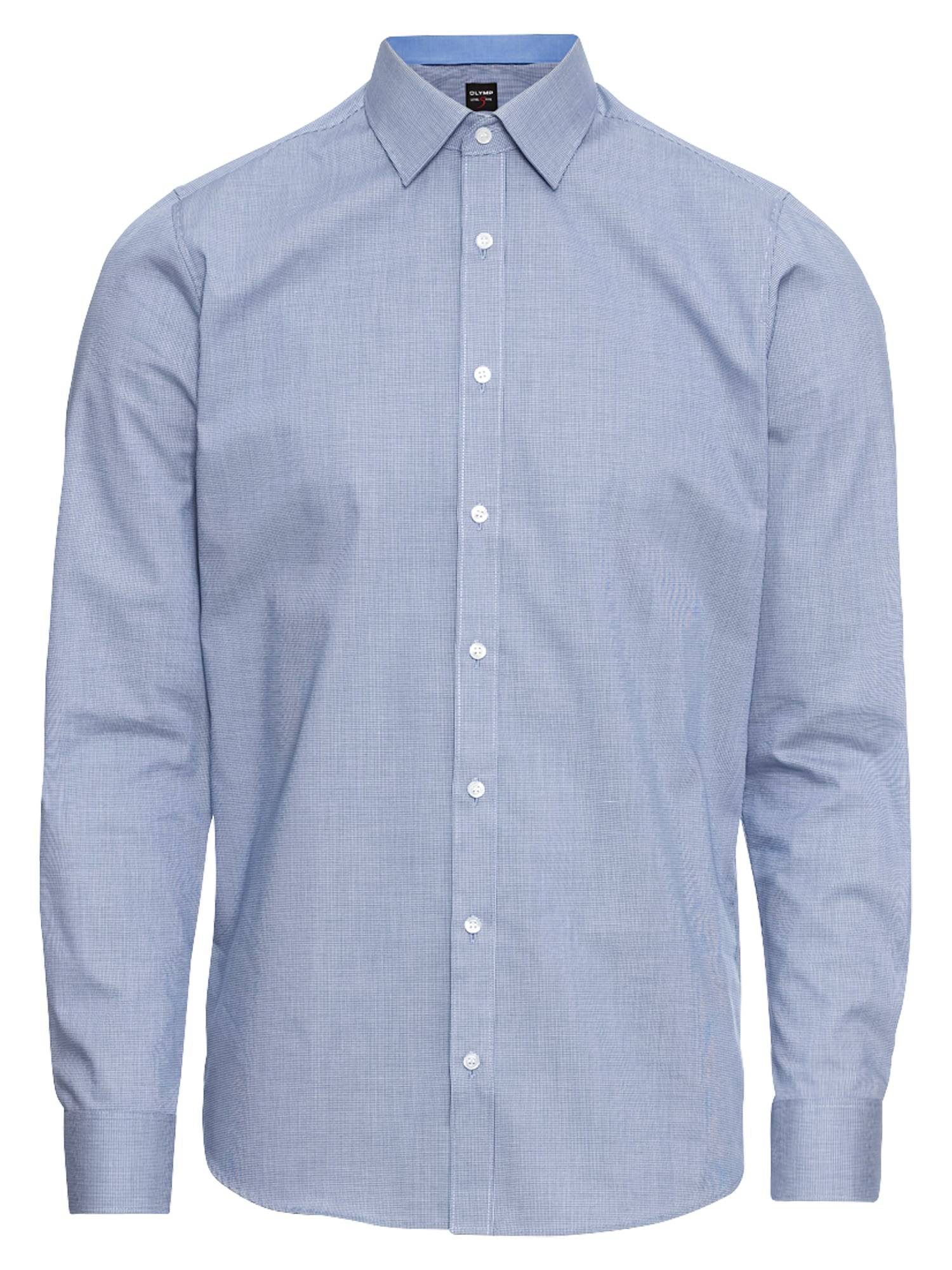 OLYMP Chemise business 'Level 5 Faux Uni'  - Bleu - Taille: 40 - male
