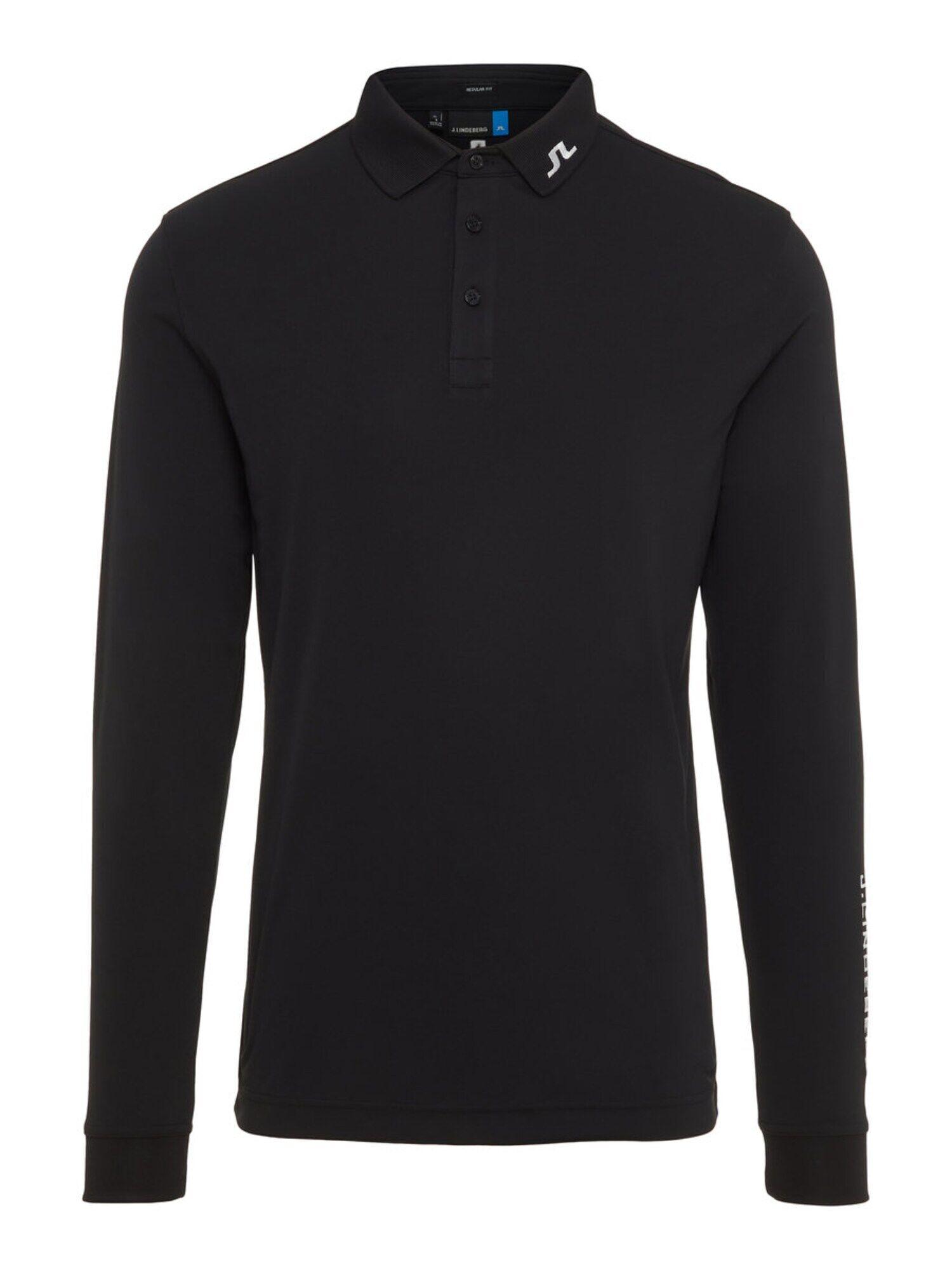J.Lindeberg T-Shirt fonctionnel 'M Tour Tech LS reg TX Jersey'  - Noir - Taille: S - male