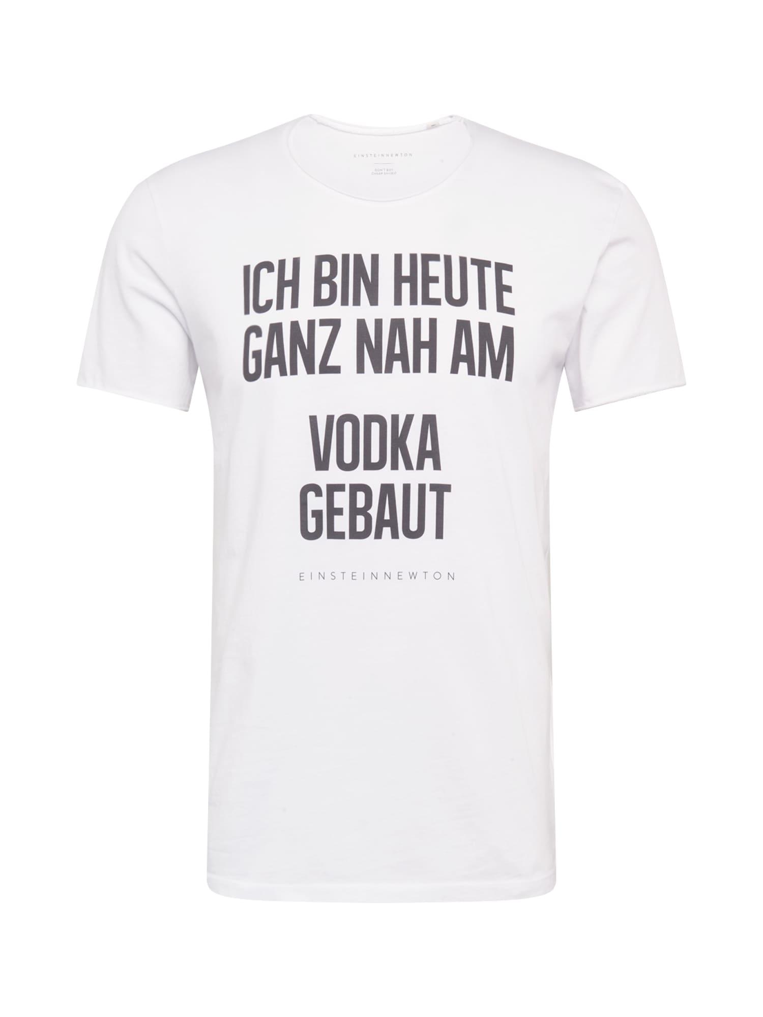 EINSTEIN & NEWTON T-Shirt 'VODKA BASS'  - Blanc - Taille: L - male