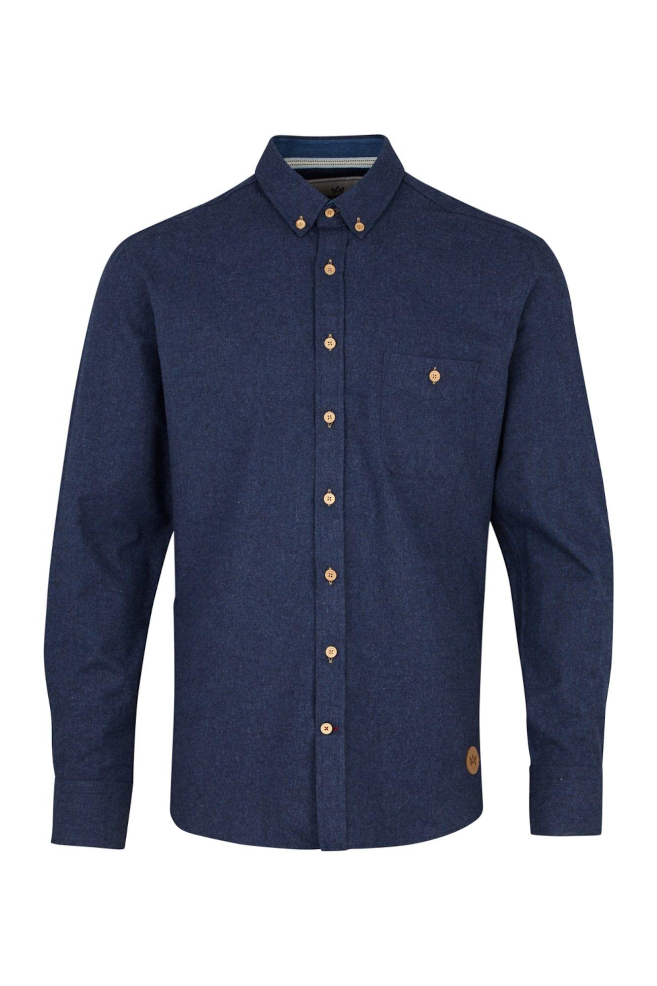 Kronstadt Chemise 'Dean 07a Plain'  - Bleu - Taille: XL - male