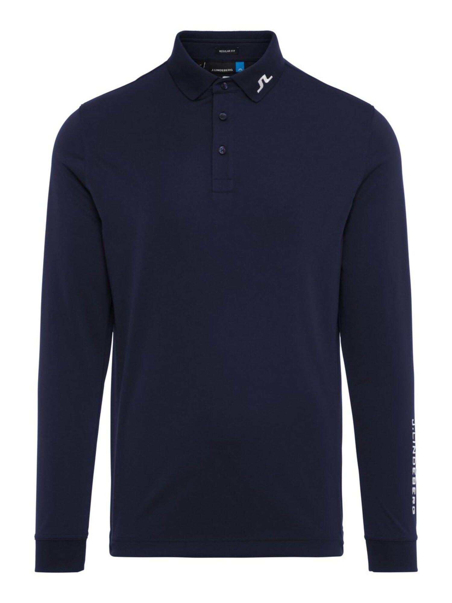 J.Lindeberg T-Shirt fonctionnel 'M Tour Tech LS reg TX Jersey'  - Bleu - Taille: S - male