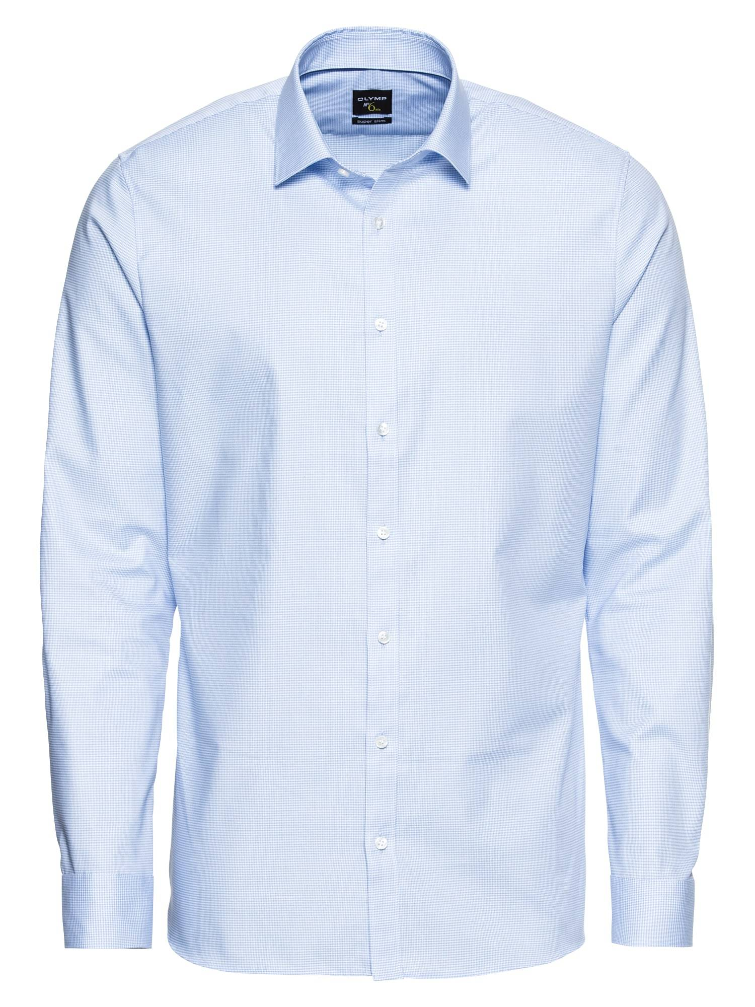 OLYMP Chemise business 'No. 6 Faux Uni'  - Bleu - Taille: 41 - male