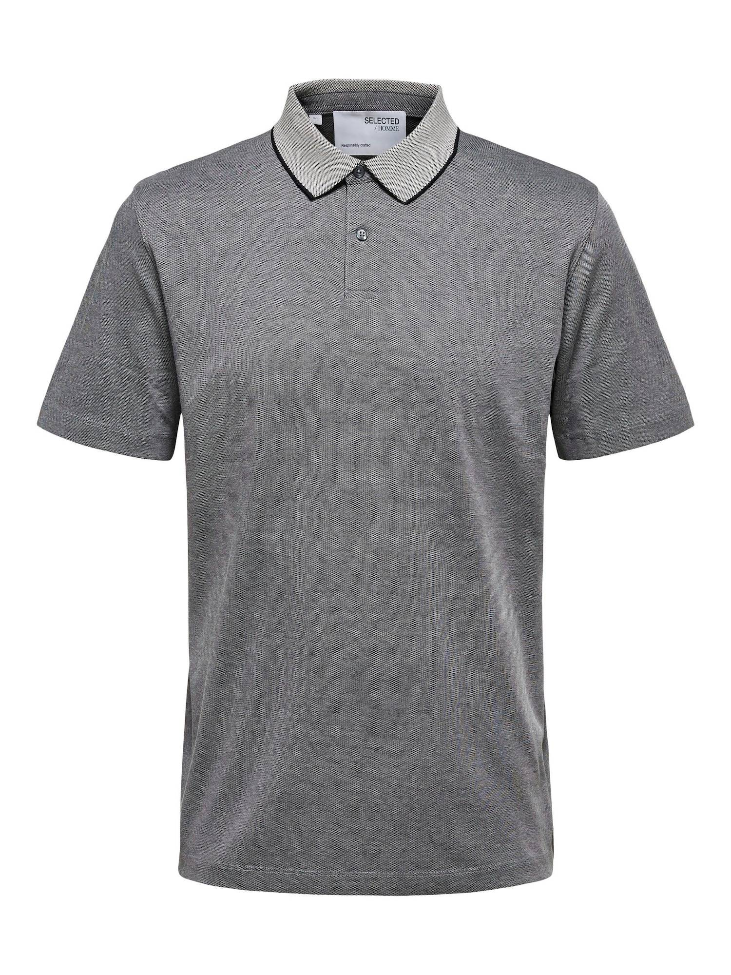 SELECTED HOMME T-Shirt 'Leroy'  - Gris - Taille: L - male