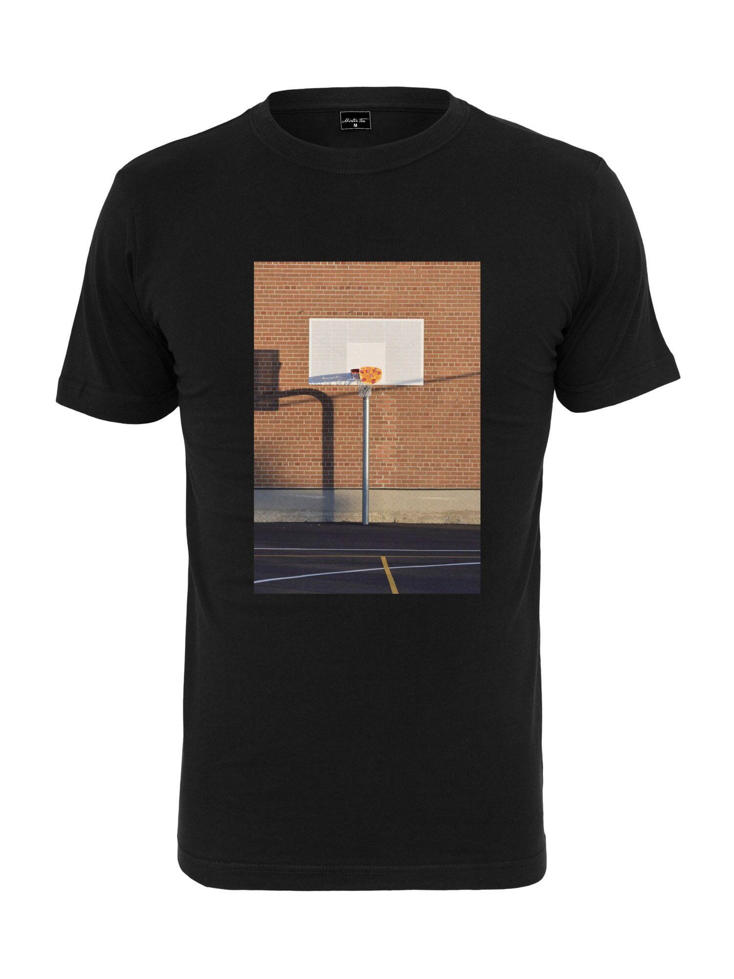 Tee T-Shirt 'Pizza Basketball Court'  - Noir - Taille: XL - male