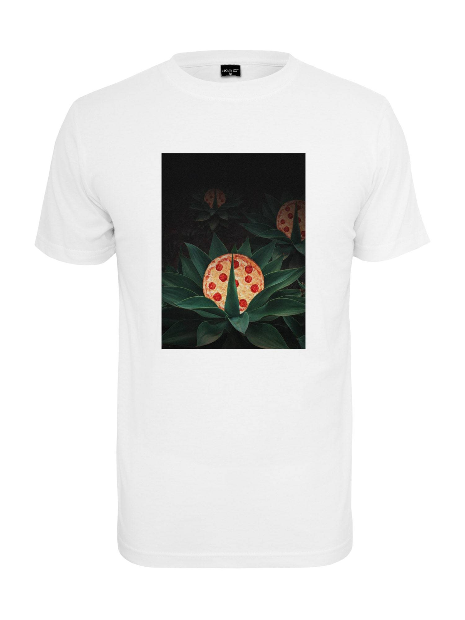 Tee T-Shirt 'Pizza Plant''  - Blanc - Taille: L - male