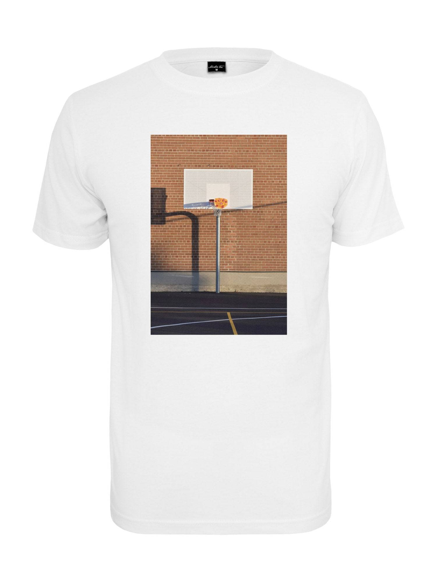 Tee T-Shirt 'Pizza Basketball Court'  - Blanc - Taille: M - male