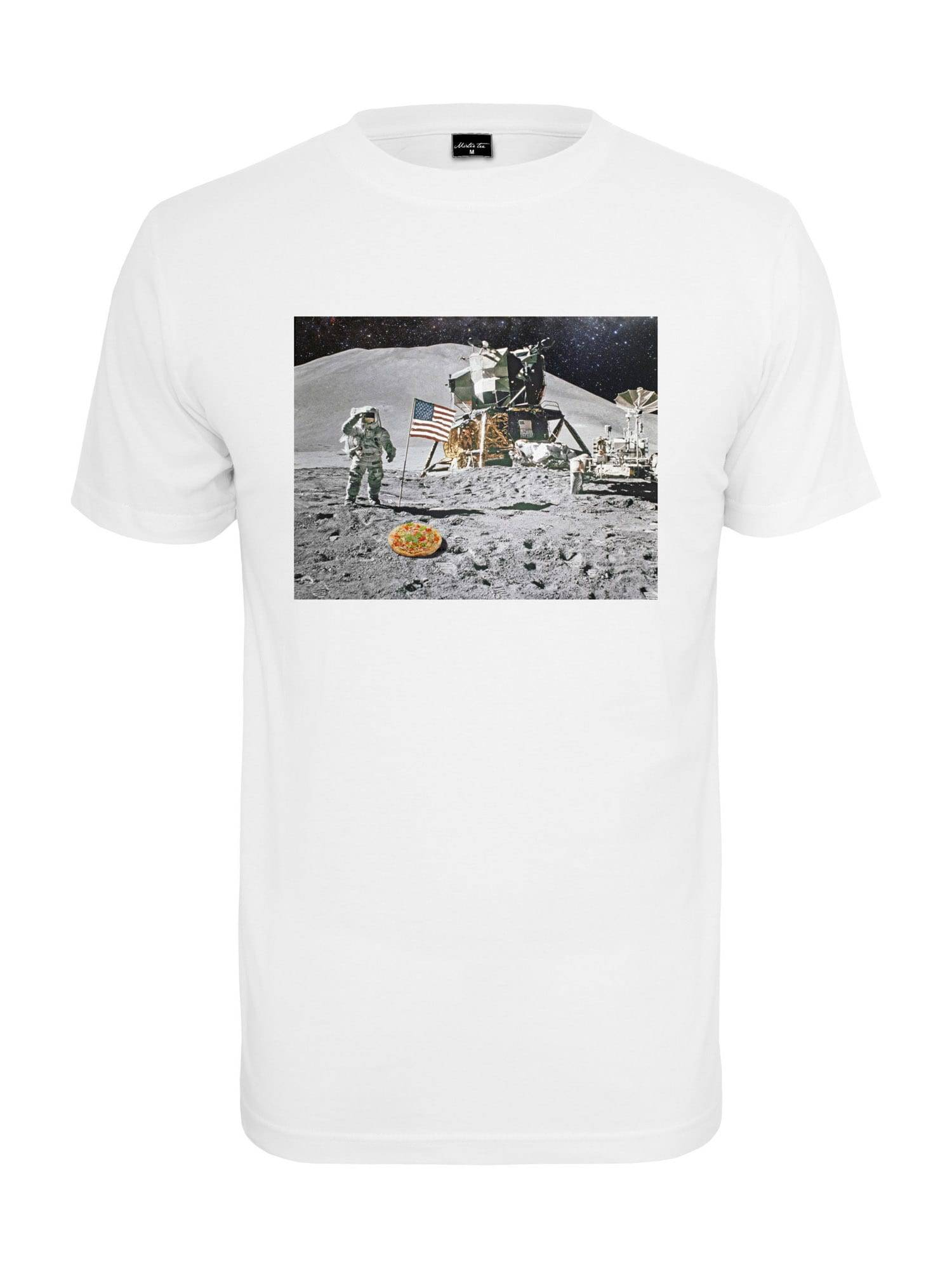 Tee T-Shirt 'Pizza Moon'  - Blanc - Taille: S - male