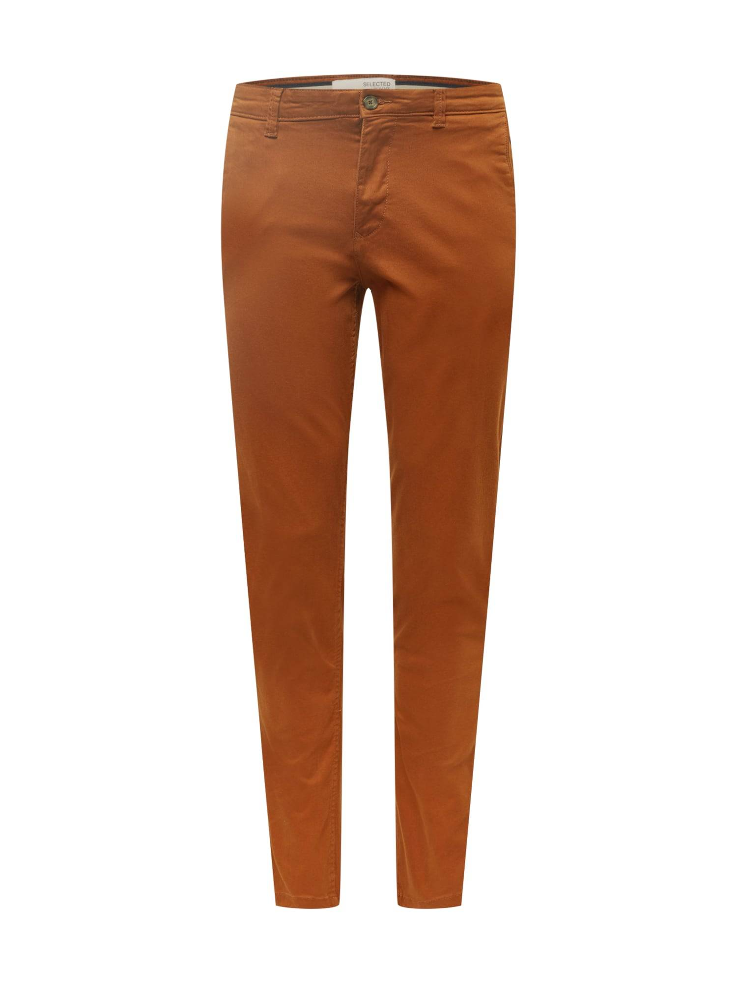 SELECTED HOMME Pantalon chino 'New Paris'  - Marron - Taille: 34 - male