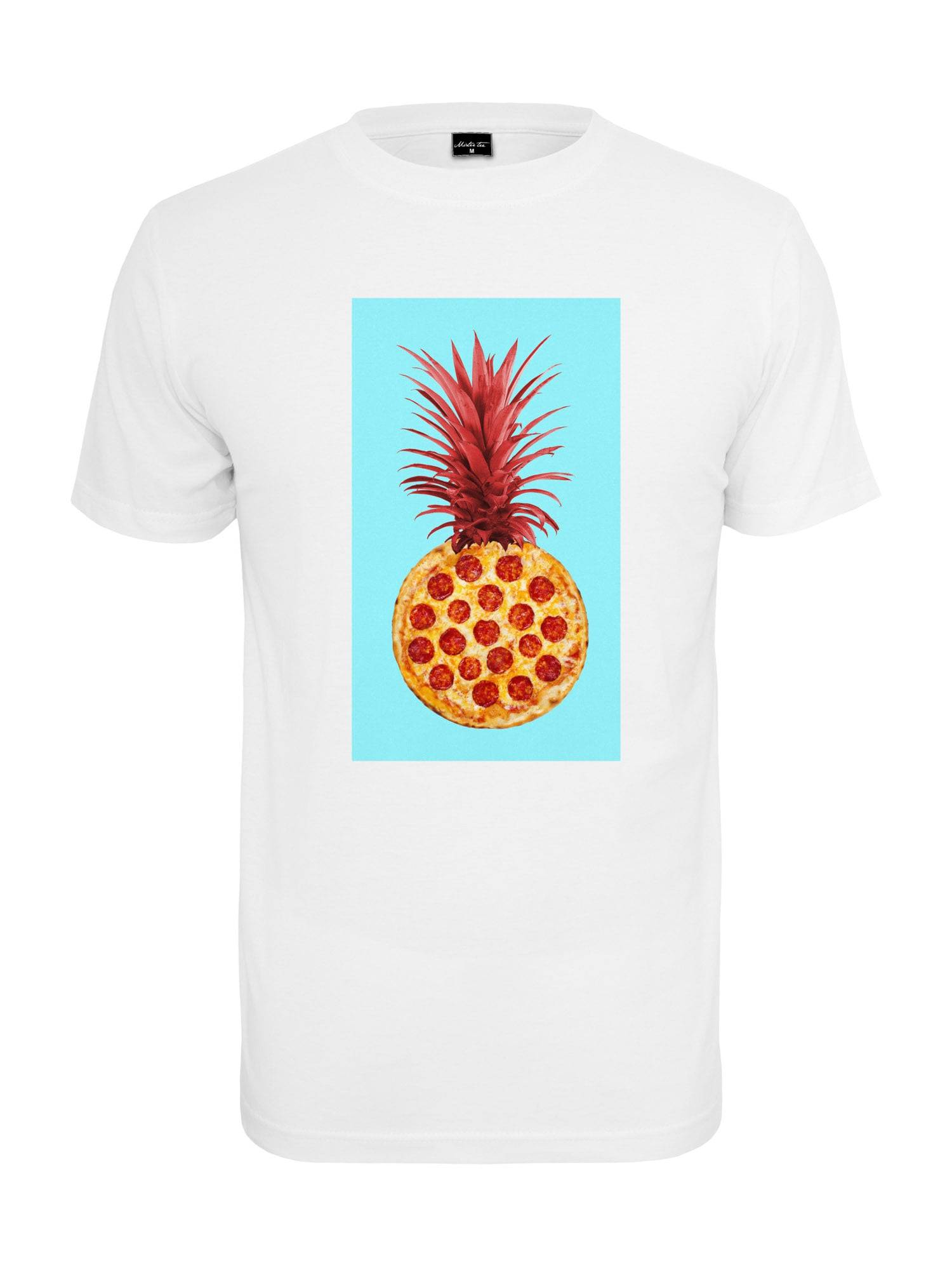 Tee T-Shirt 'Pizza Pineapple'  - Blanc - Taille: L - male