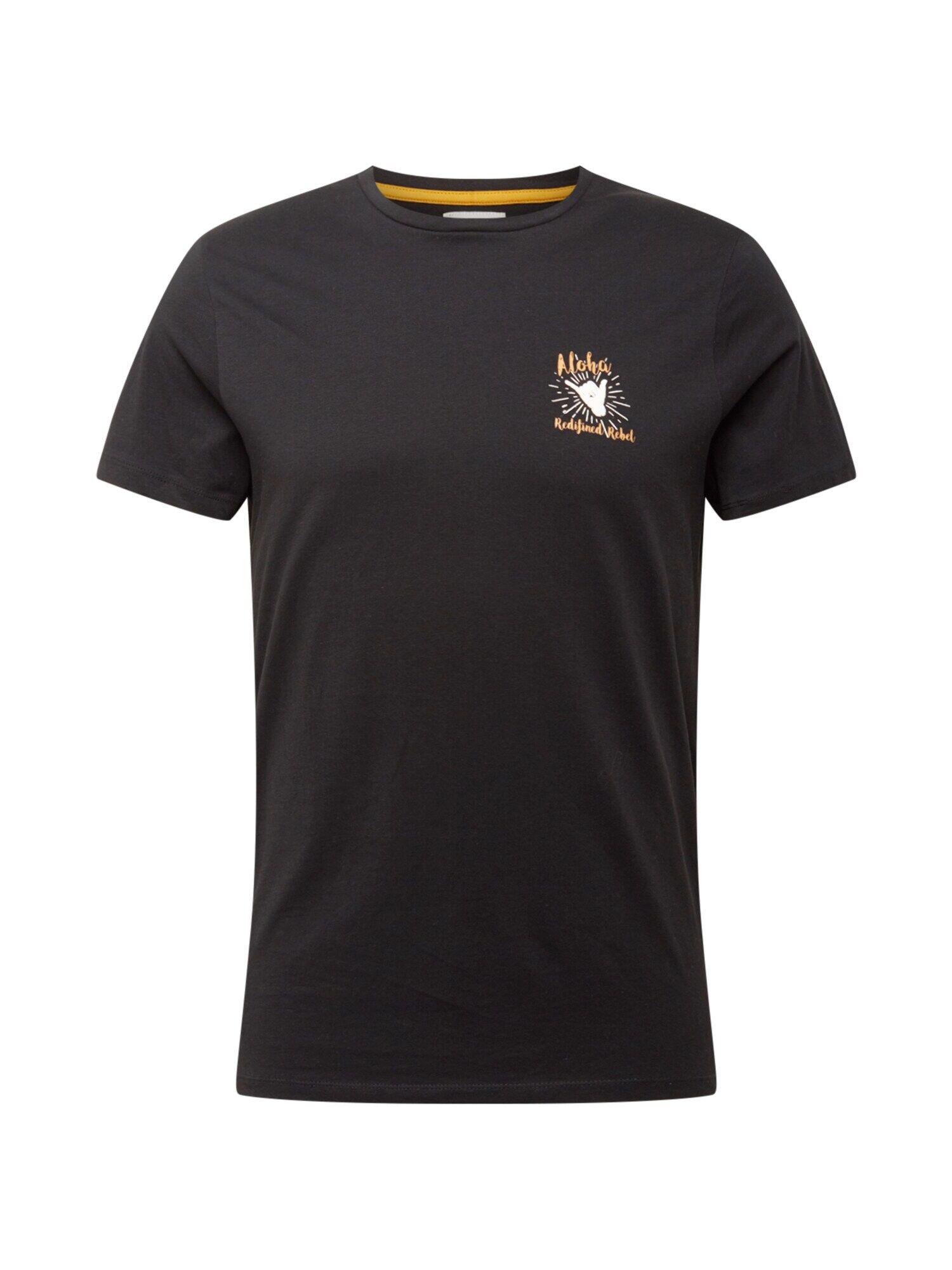 Redefined Rebel T-Shirt 'Ryder'  - Noir - Taille: S - male