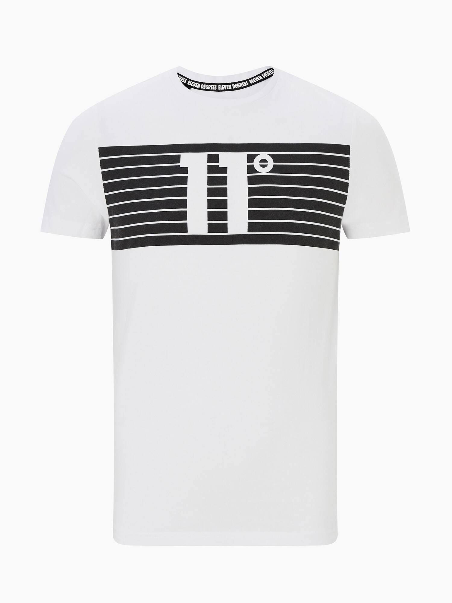 11 Degrees T-Shirt 'PLACEMENT STRIPE'  - Blanc - Taille: S - male