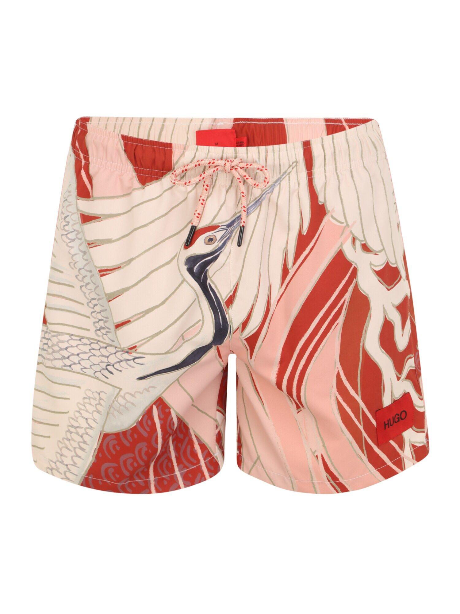 HUGO Shorts de bain 'MISO'  - Rouge - Taille: M - male