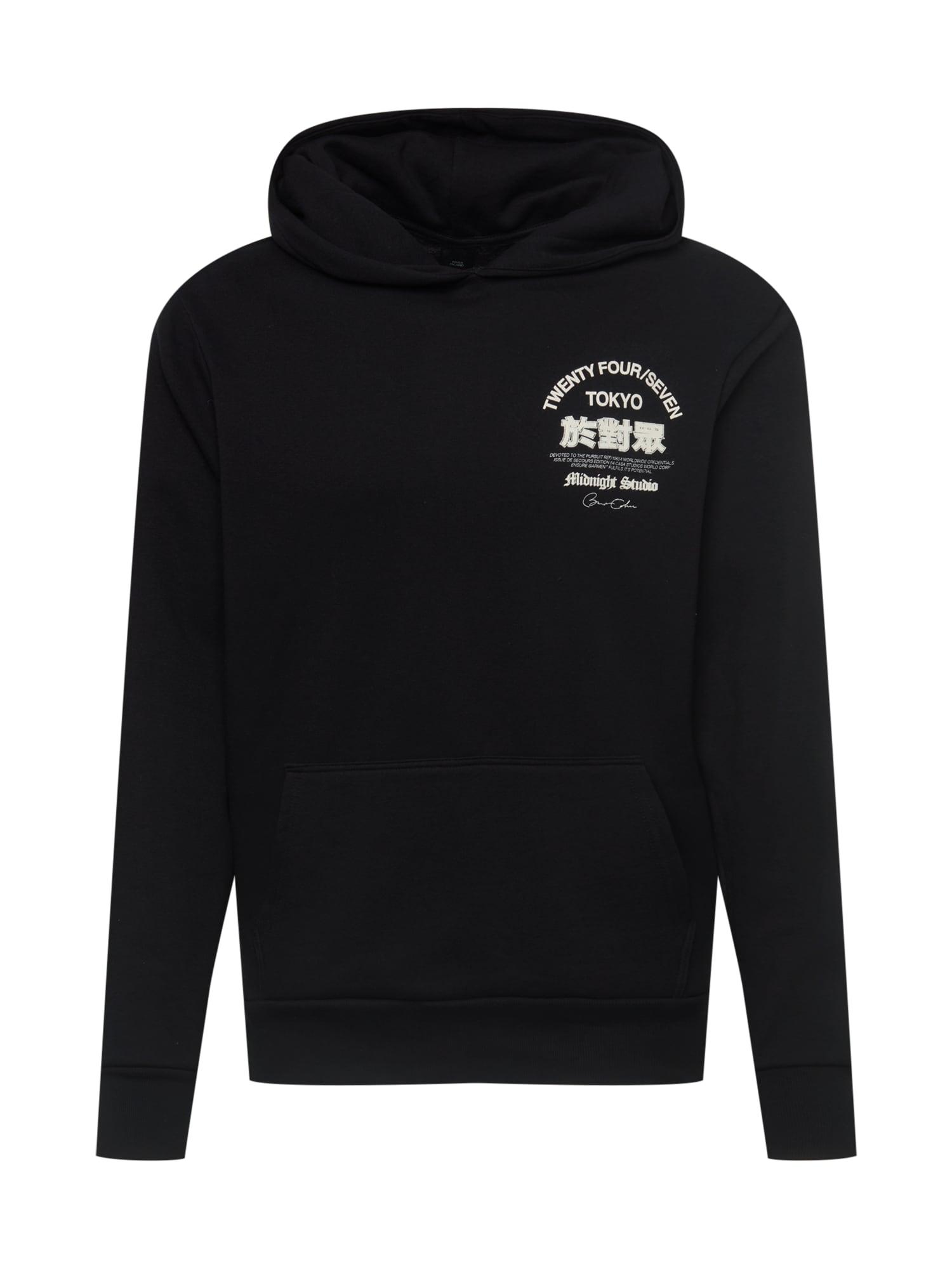 River Island Sweat-shirt 'METROPOLE PARIS'  - Noir - Taille: XL - male