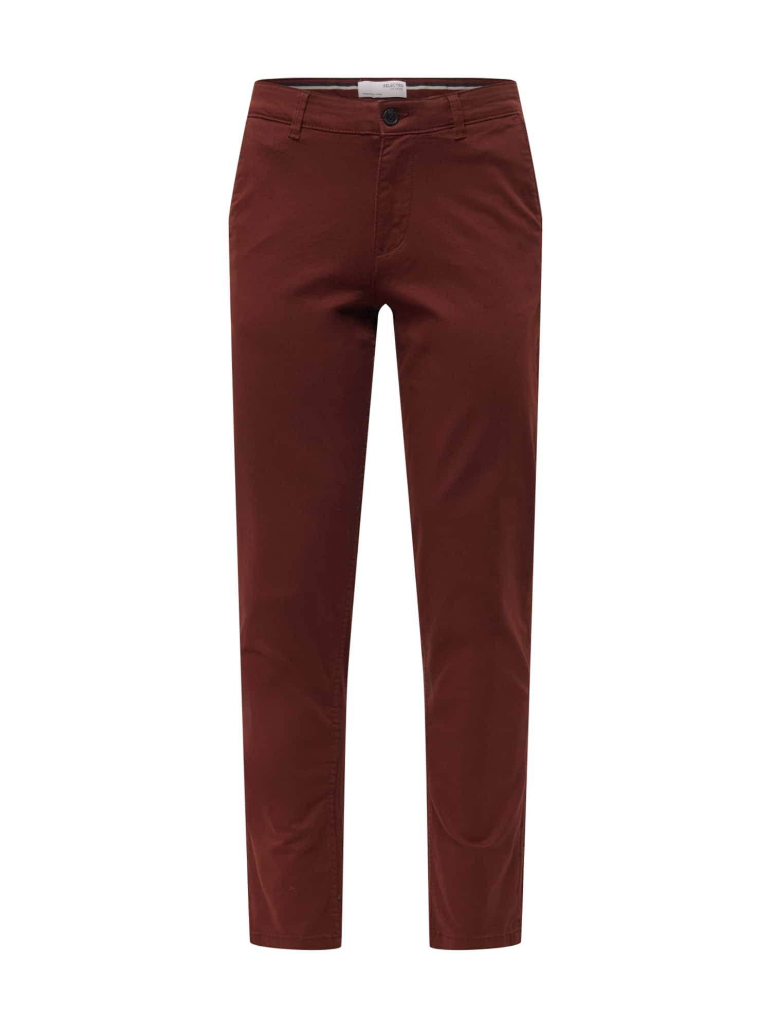 SELECTED HOMME Pantalon chino 'NEW PARIS'  - Marron - Taille: 31 - male