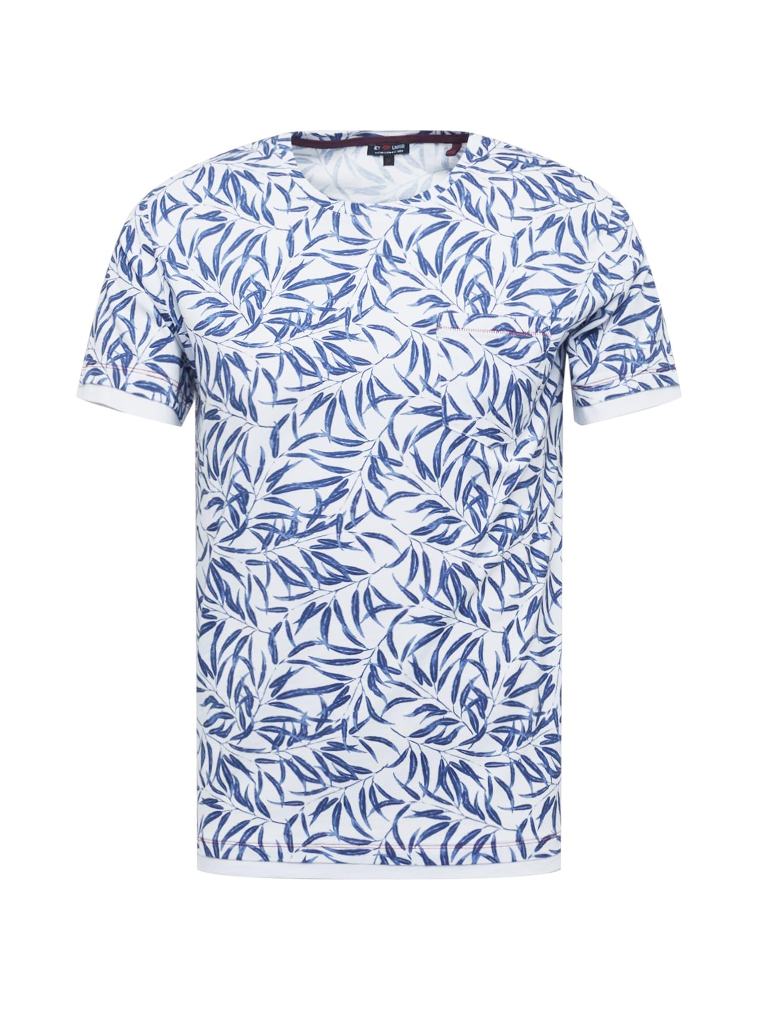 Key Largo T-Shirt 'LOCATION'  - Blanc, Bleu - Taille: L - male