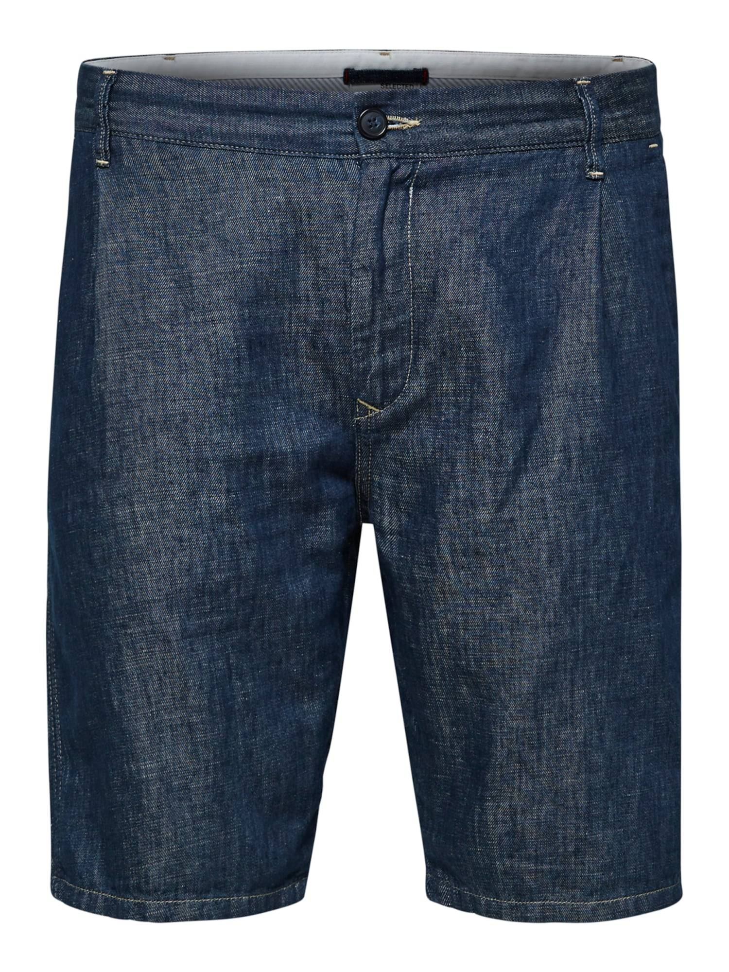 SELECTED HOMME Jean à pince 'Clay'  - Bleu - Taille: S - male