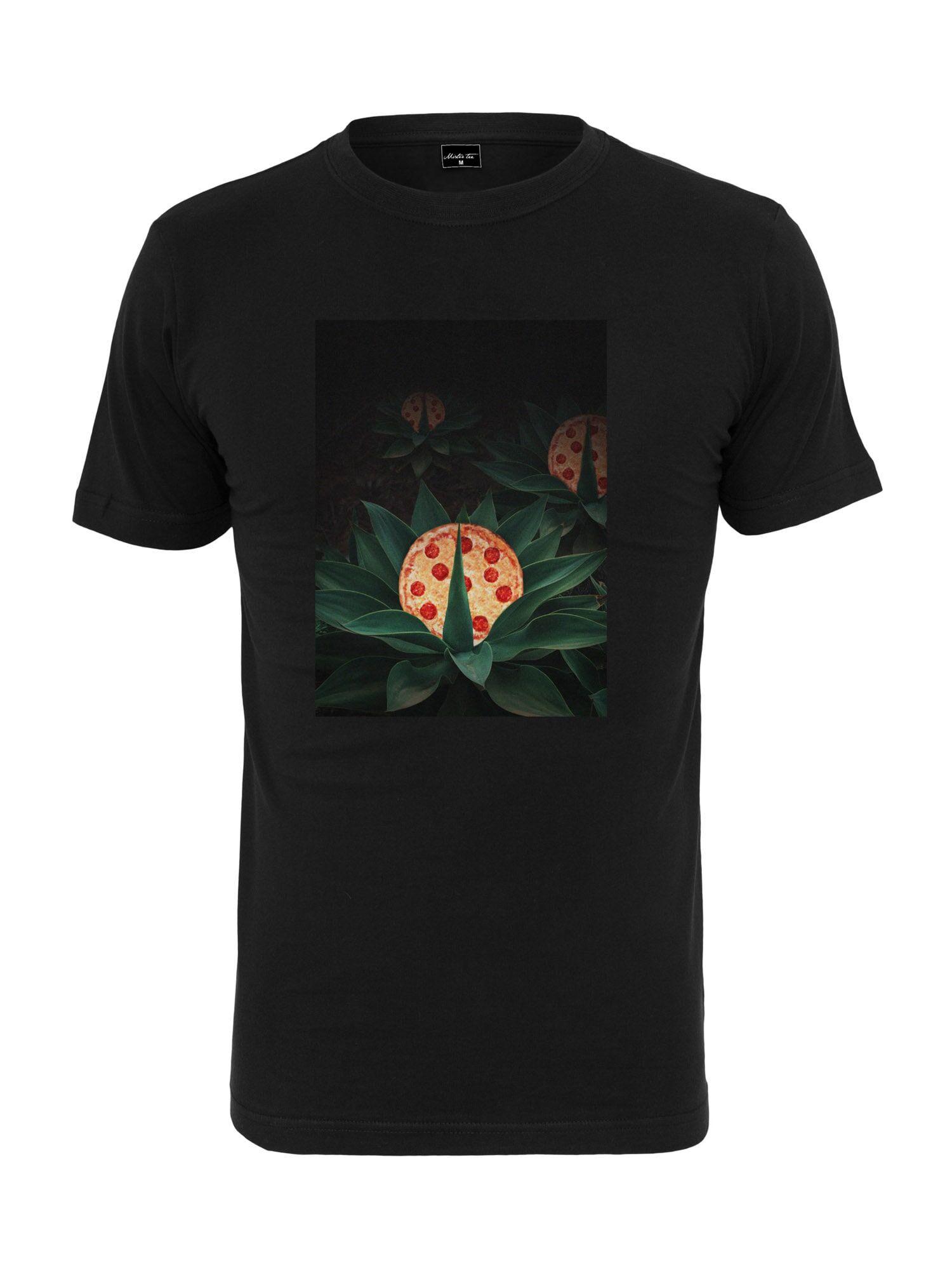 Tee T-Shirt 'Pizza Plant'  - Noir - Taille: M - male