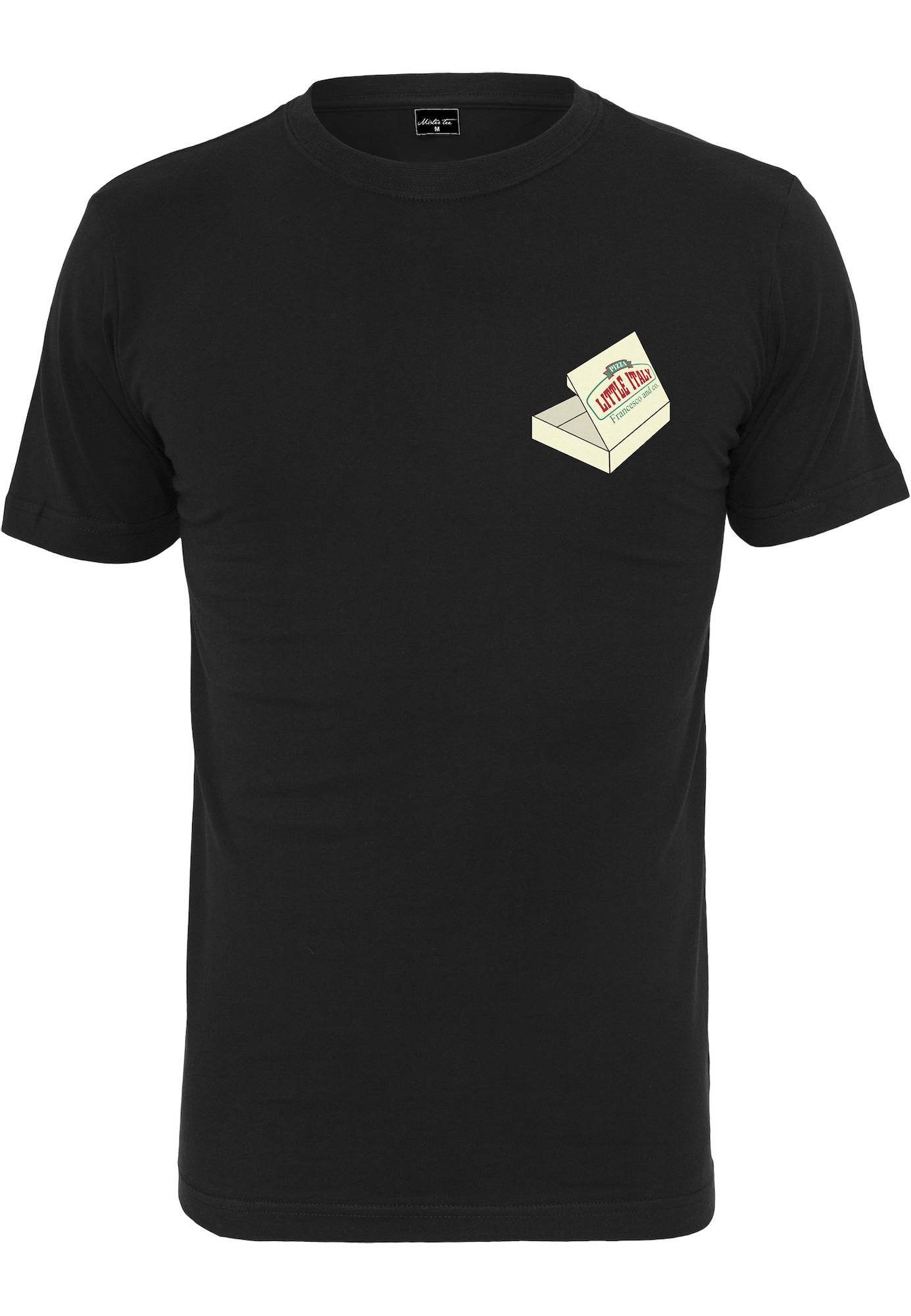 Tee T-Shirt 'Pizza Francesco'  - Noir - Taille: M - male