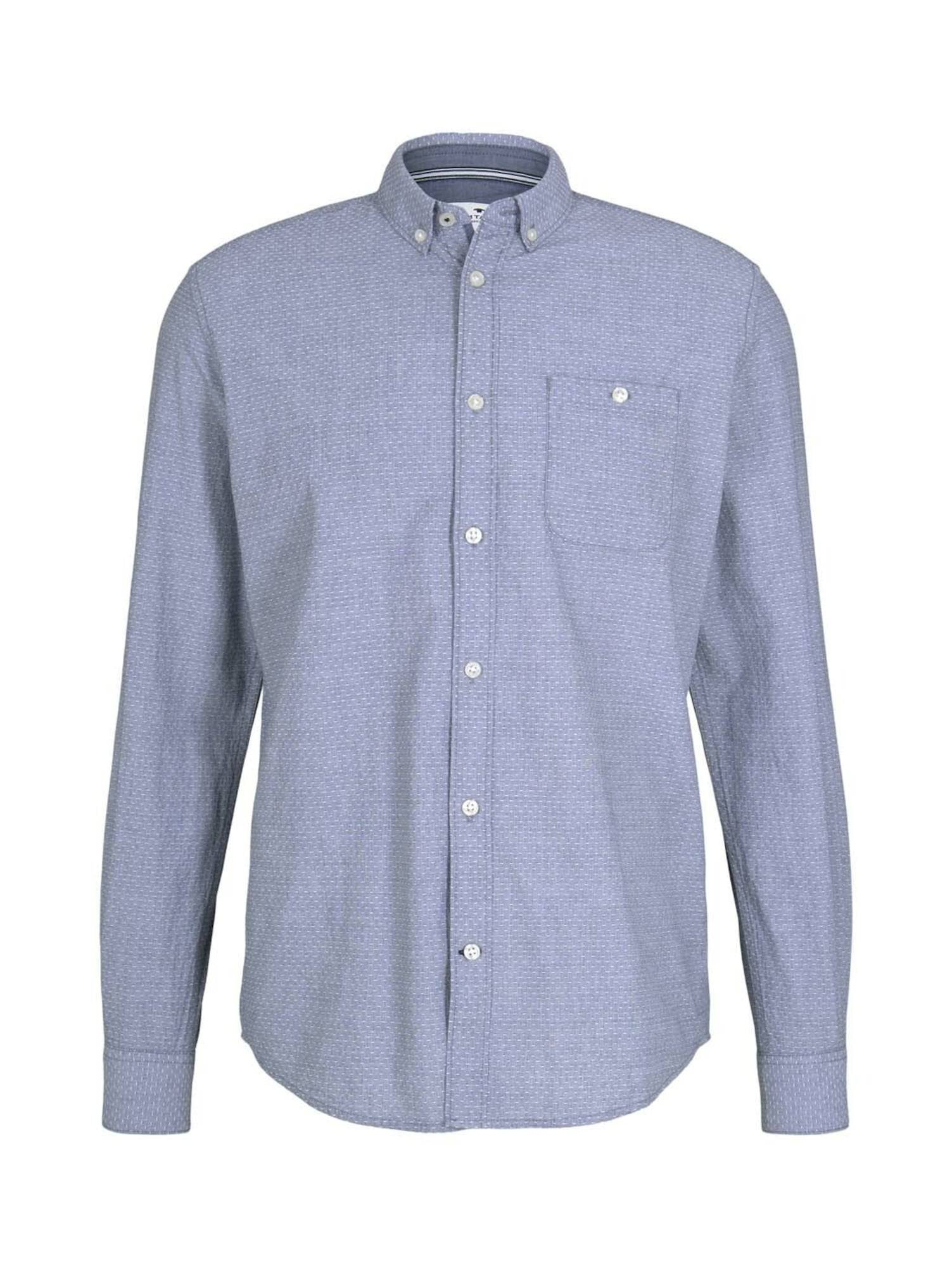 TOM TAILOR Chemise  - Bleu - Taille: M - male