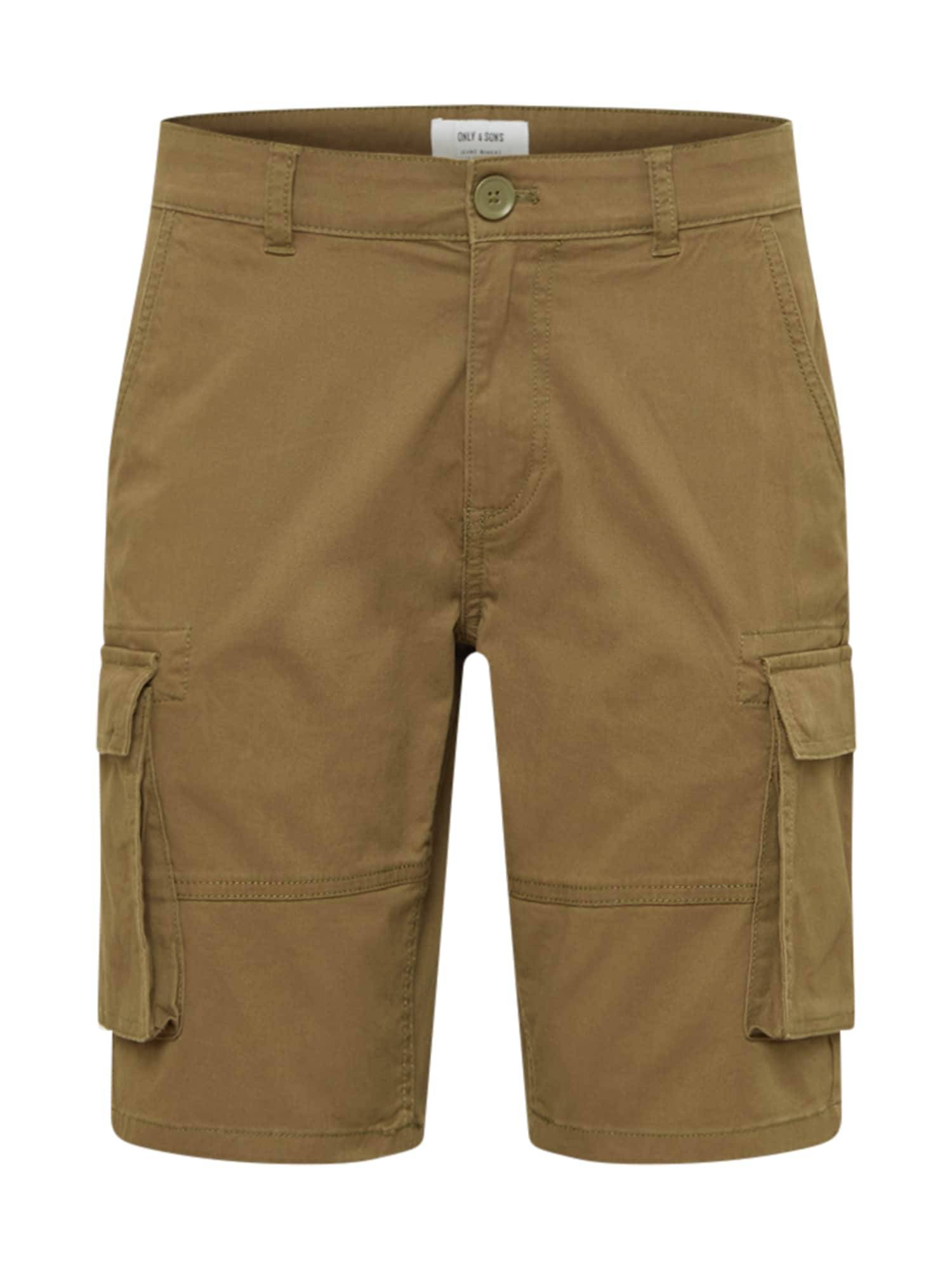Only & Sons Pantalon cargo 'CAM STAGE'  - Vert - Taille: 31-32 - male