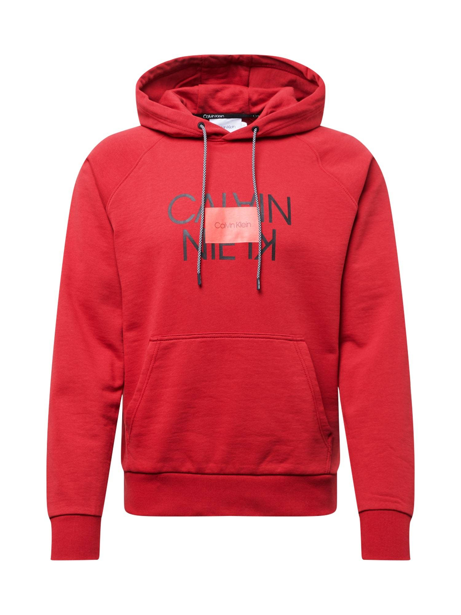 Calvin Sweat-shirt 'TEXT REVERSED HOODIE'  - Rouge - Taille: XL - male