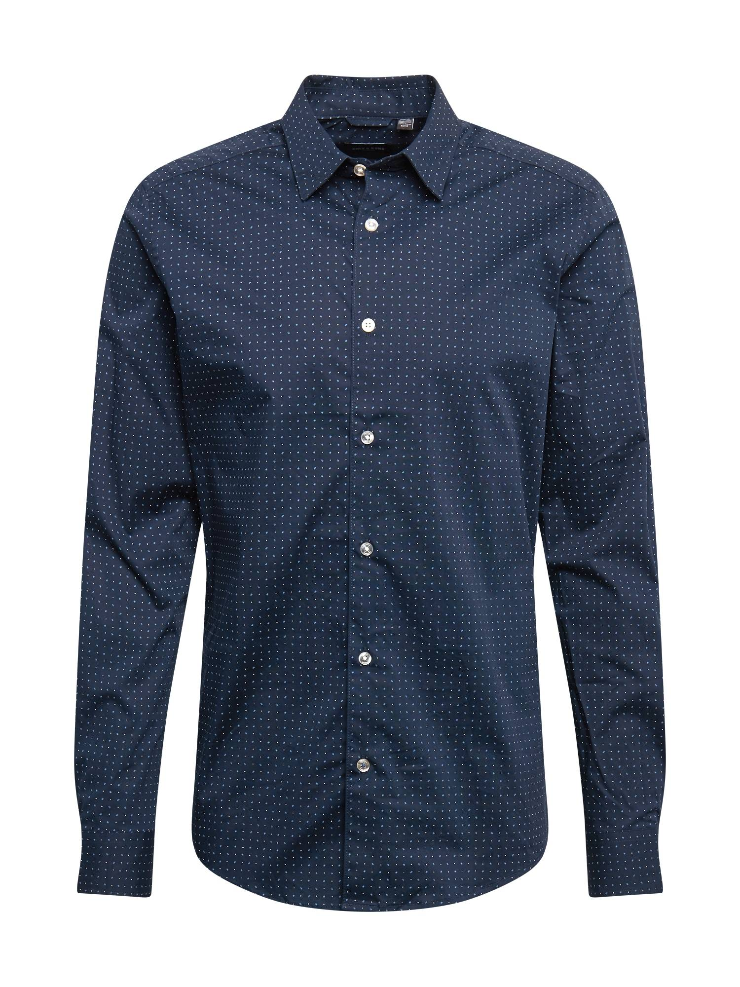 Only & Sons Chemise 'BART'  - Bleu - Taille: XS - male