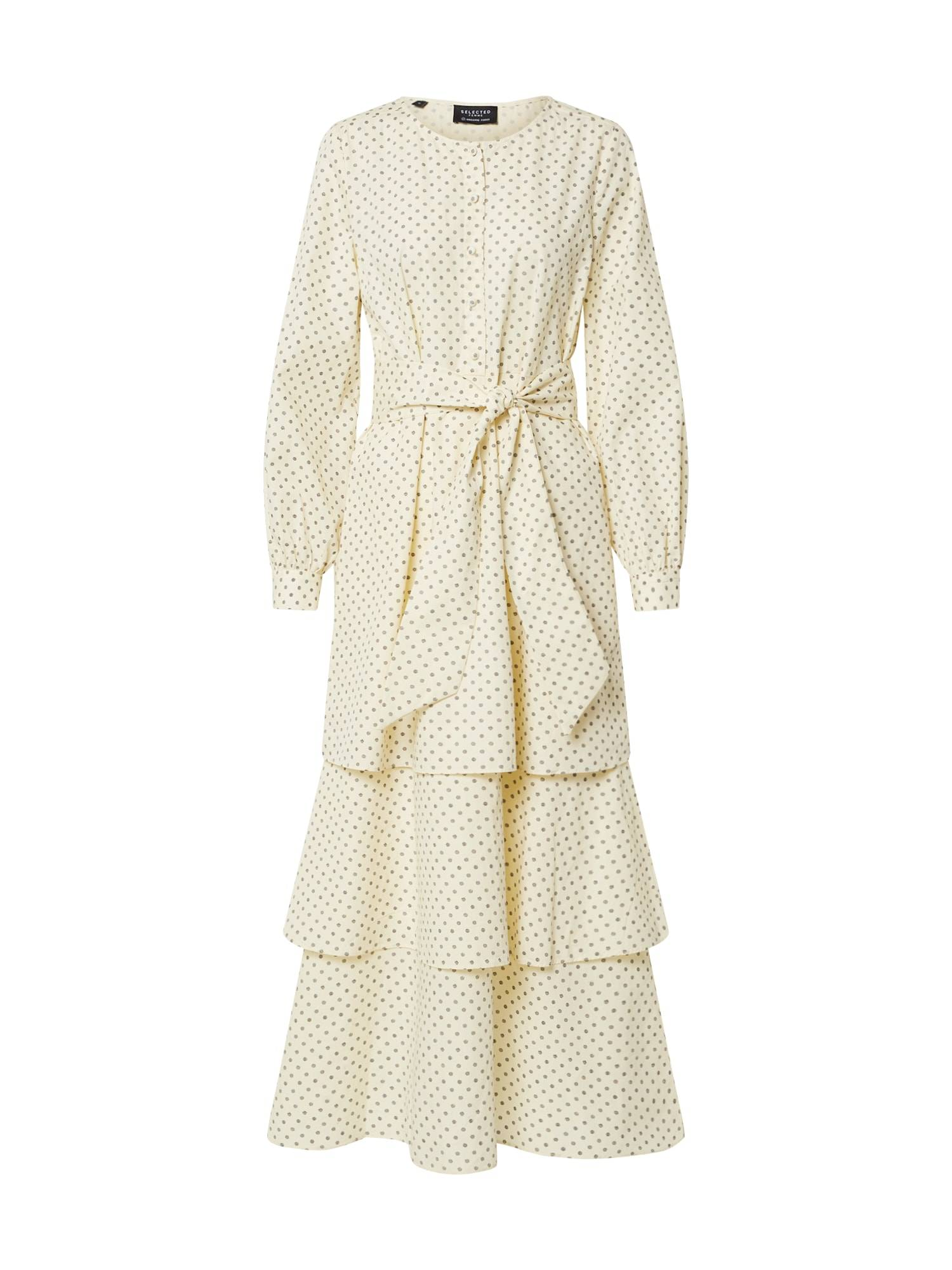 SELECTED FEMME Robe  - Beige - Taille: 34 - female