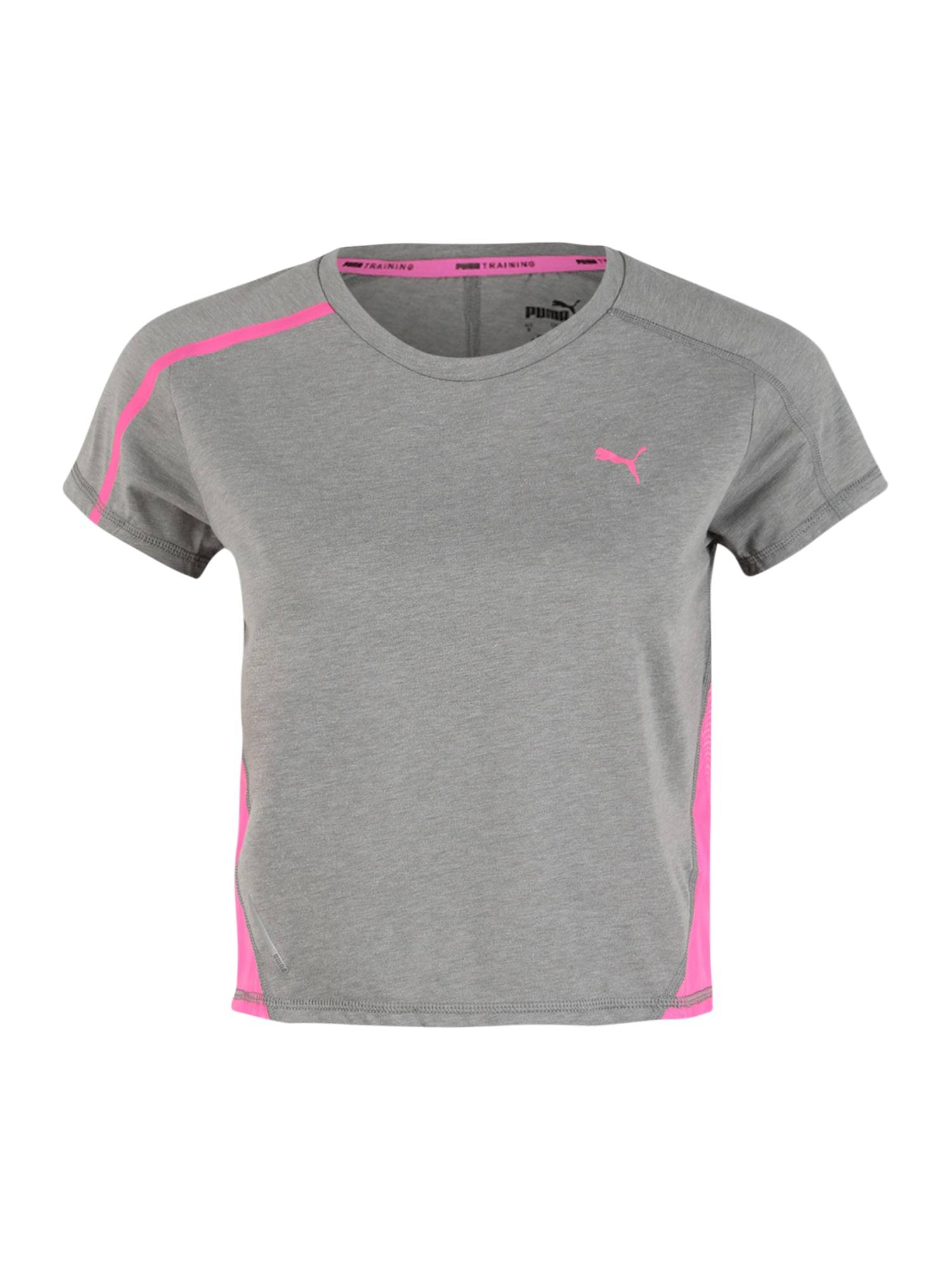 PUMA T-shirt fonctionnel 'Train Panel'  - Gris - Taille: XL - female