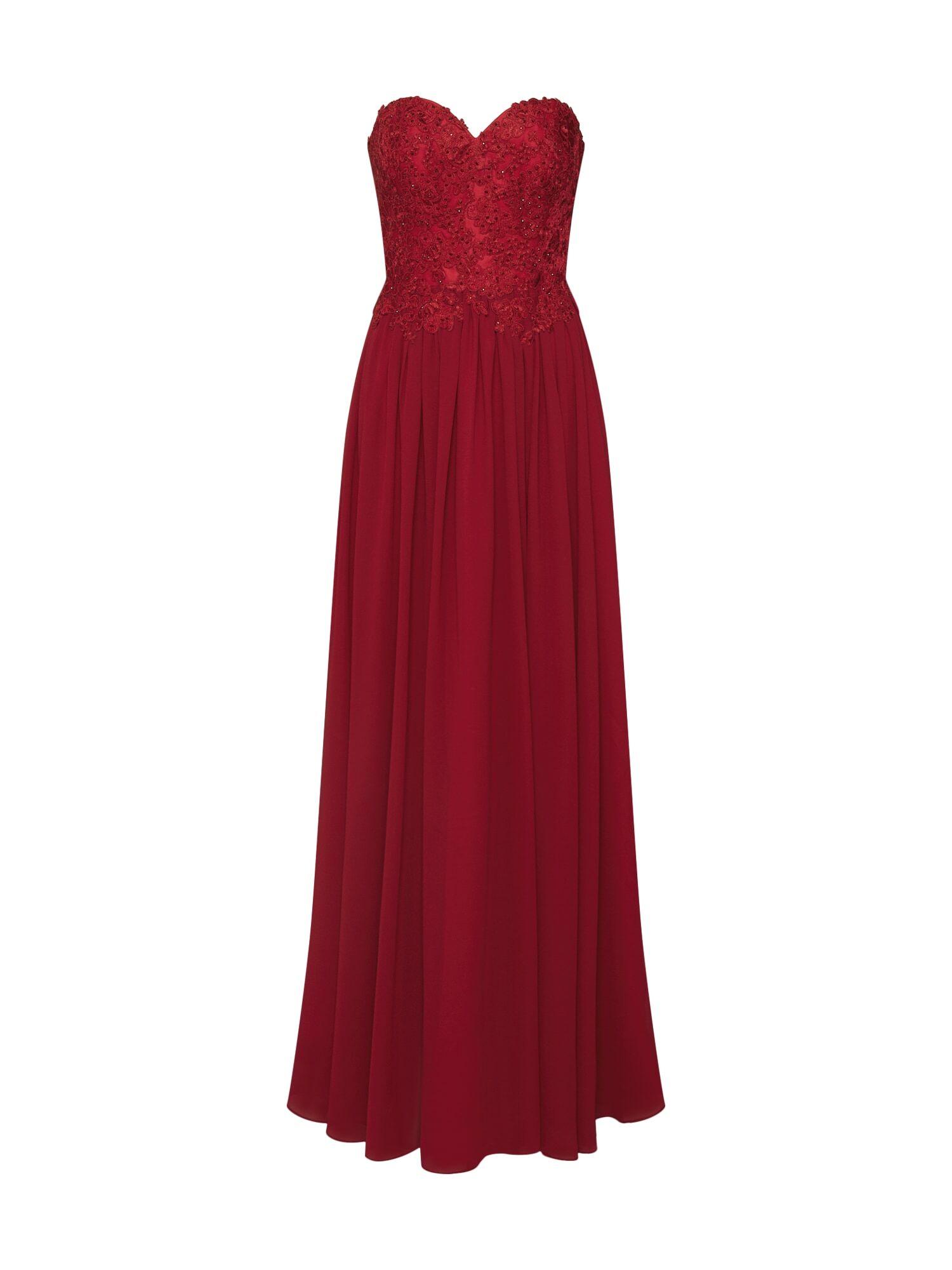 mascara Robe de soirée  - Rouge - Taille: 42 - female